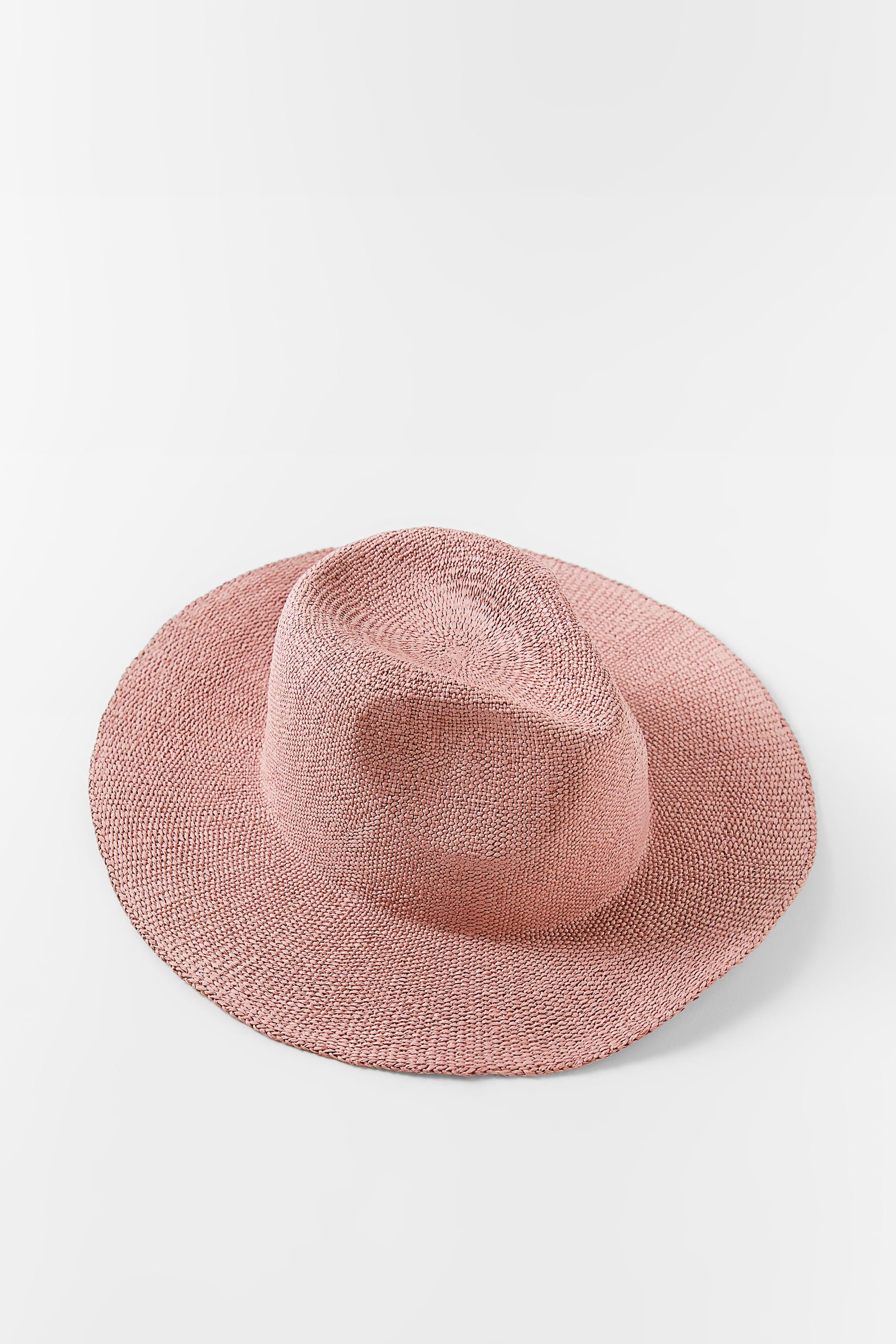 SOLID COLOR WOVEN HAT