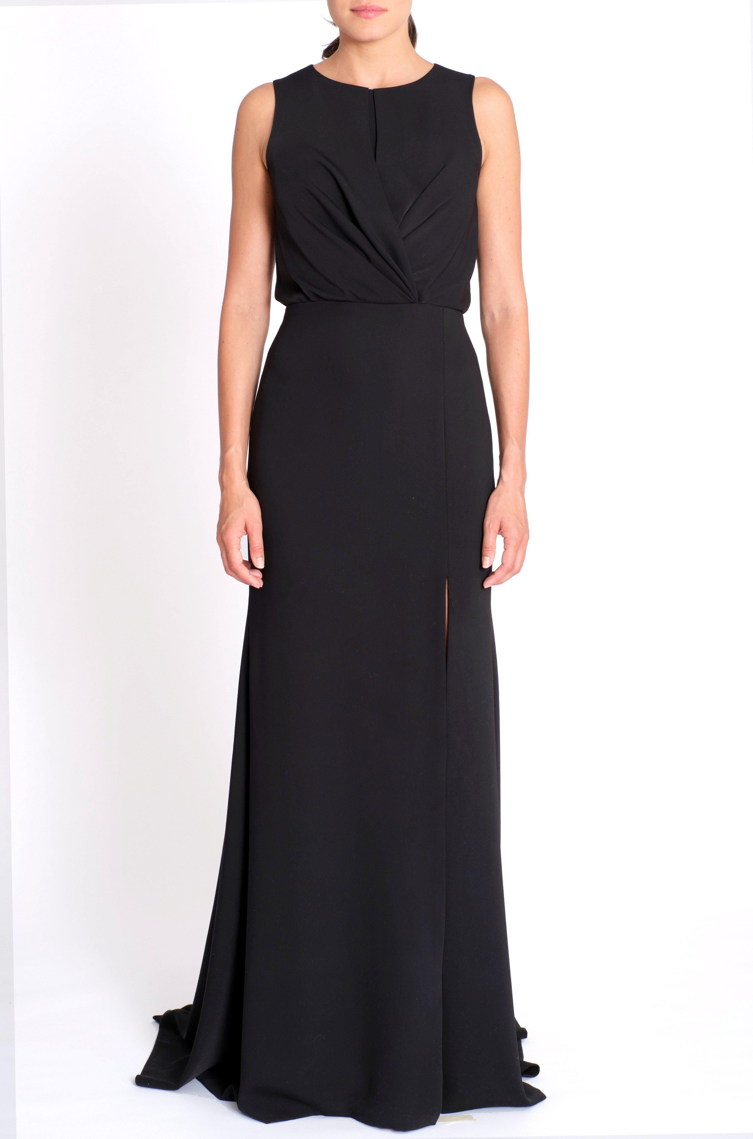 CREPE DRAPED GOWN