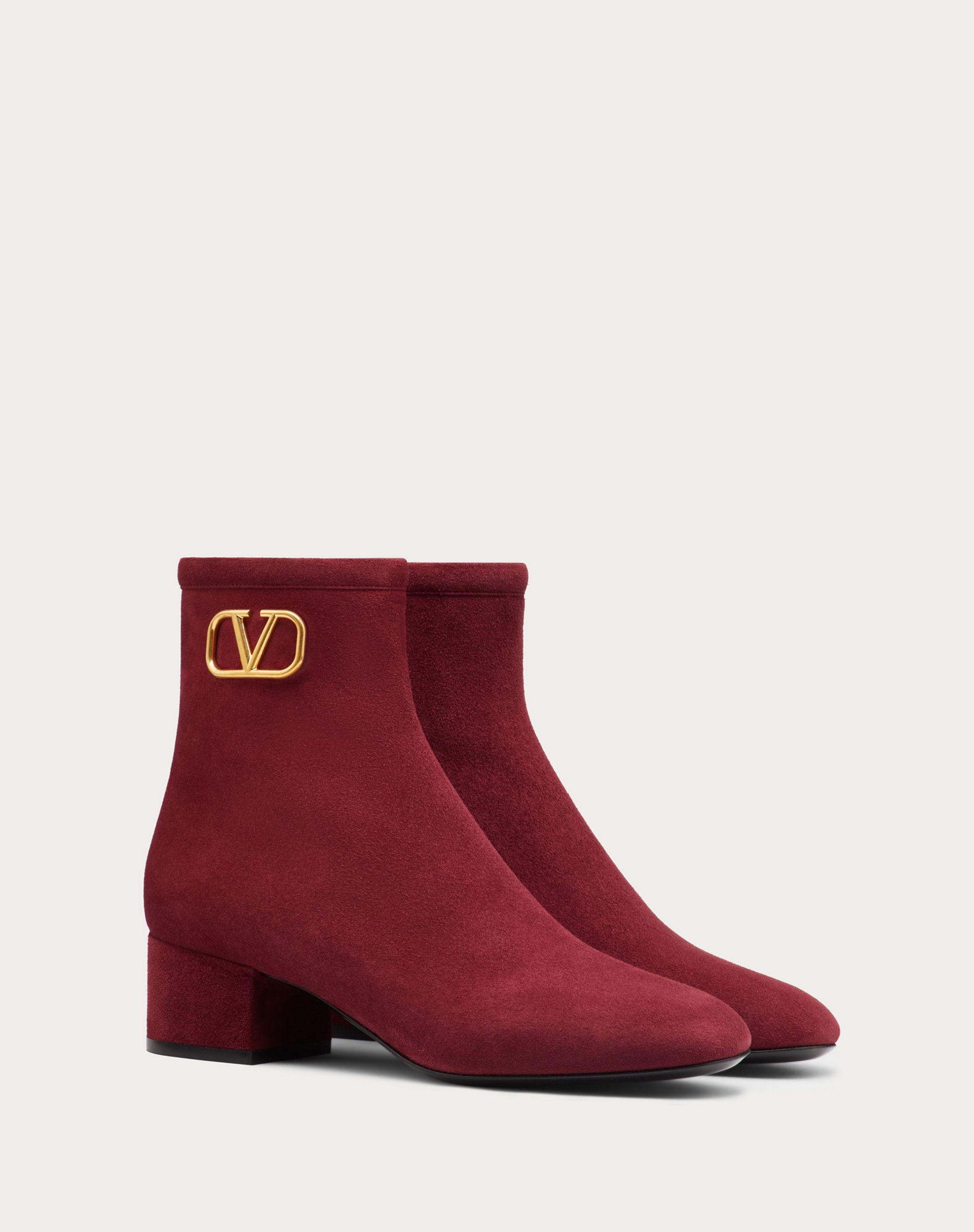 VLogo Signature Suede Ankle Boot 45 mm / 1.8 in. 1