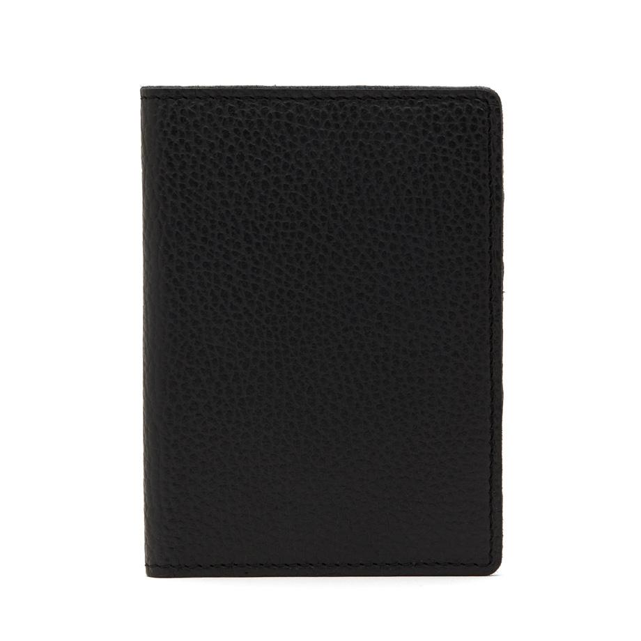 Women's Slim Leather Passport Case in Black Pebbled   Pebbled Leather by Cuyana