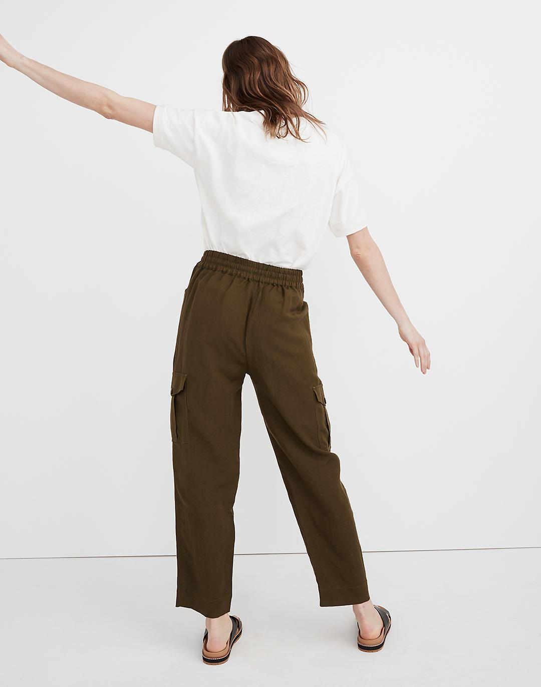 Tapered Huston Cargo Pull-On Crop Pants 2