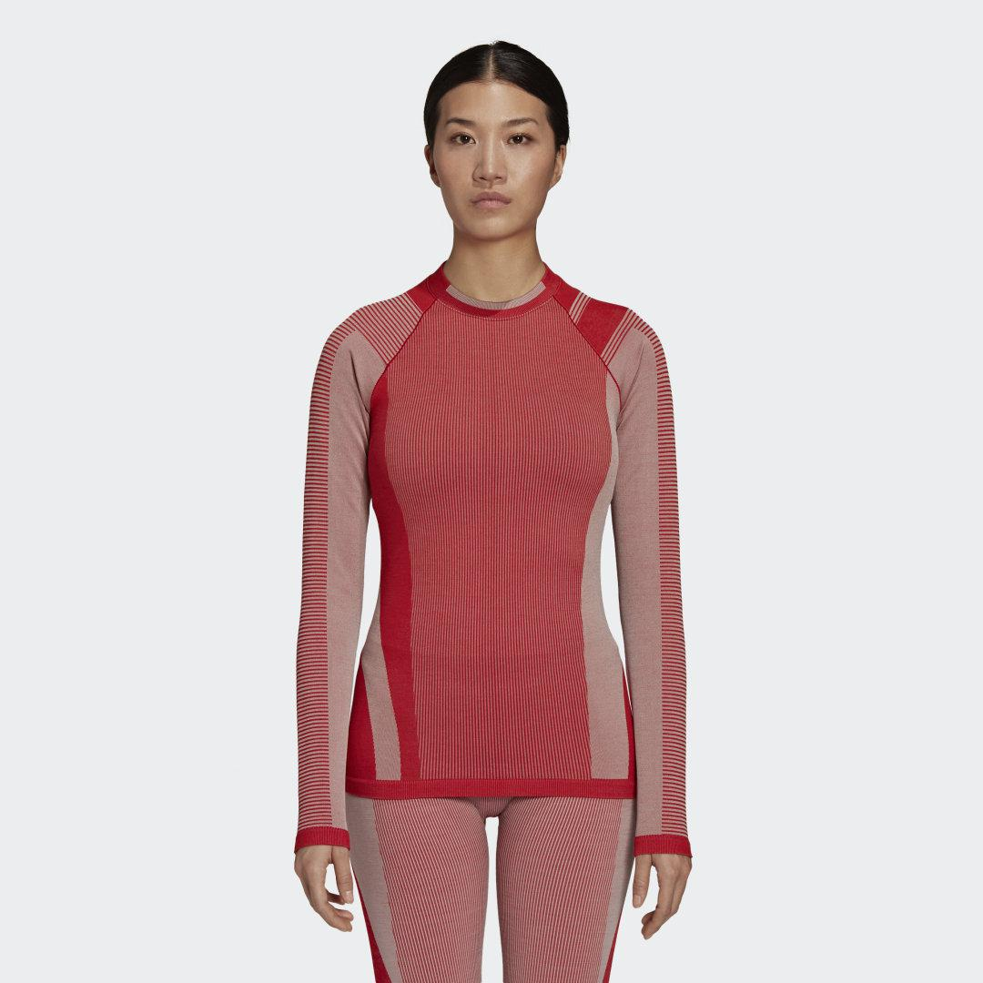 Y-3 Classic Seamless Knit Long Sleeve Tee Collegiate Red