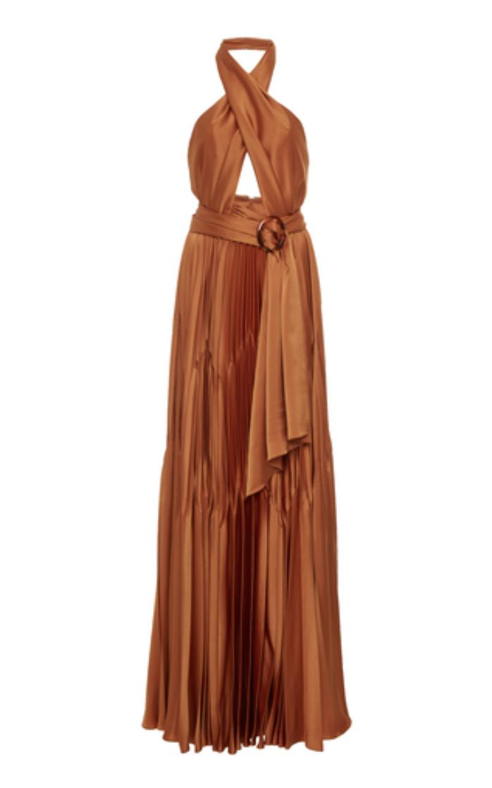 PLEATED HALTER GOWN 1