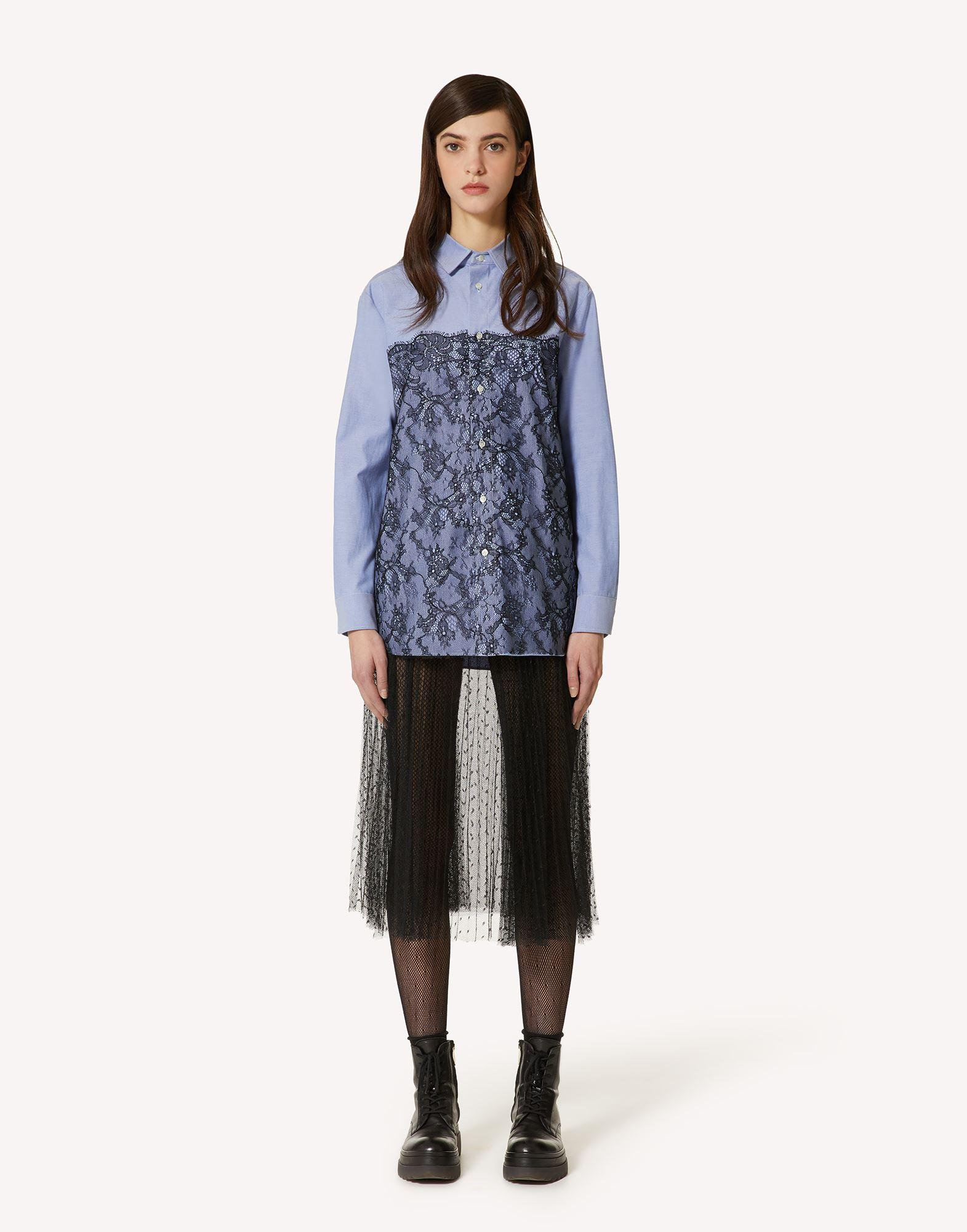 OXFORD SHIRT WITH LACE