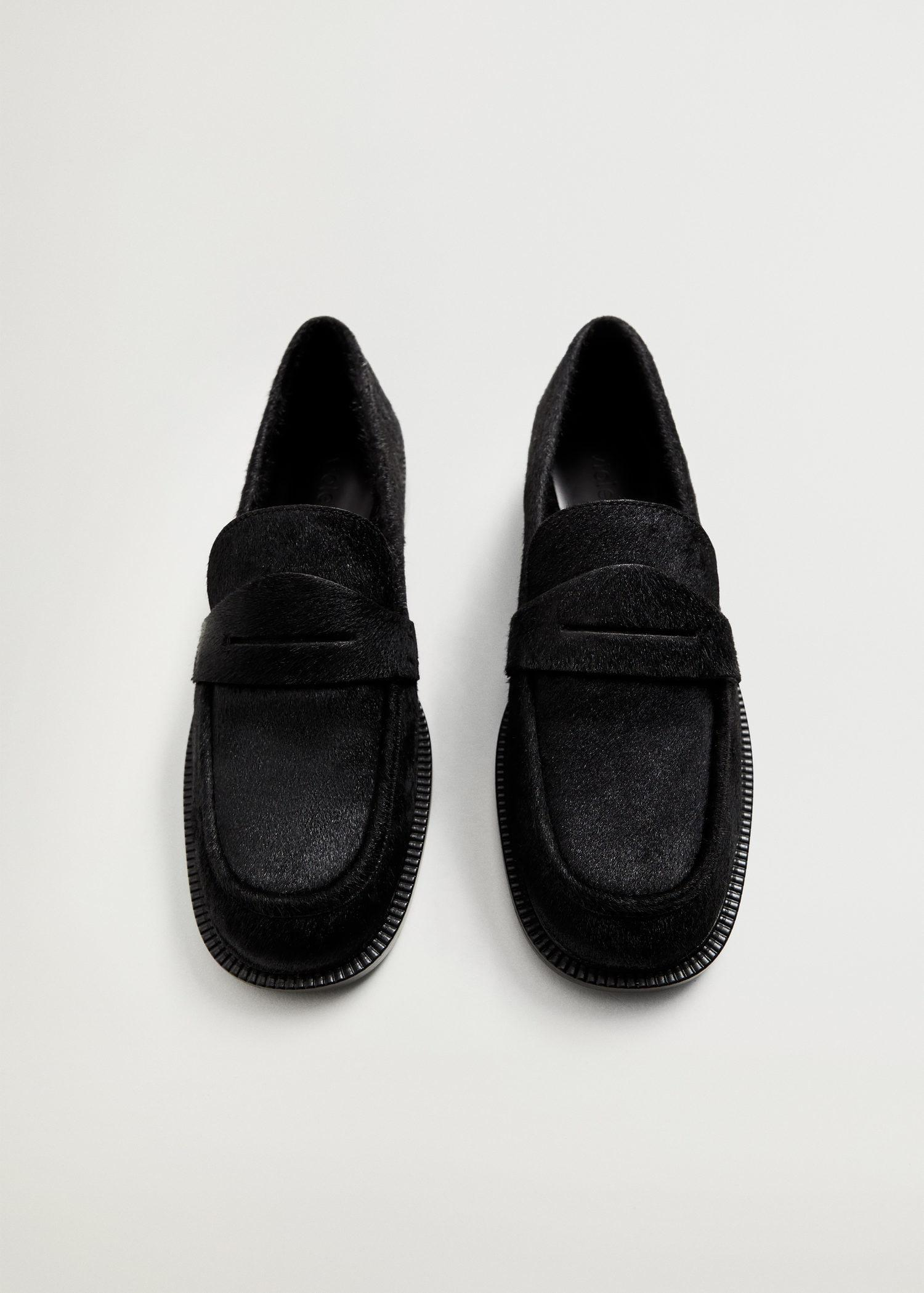 Fur leather loafers 3