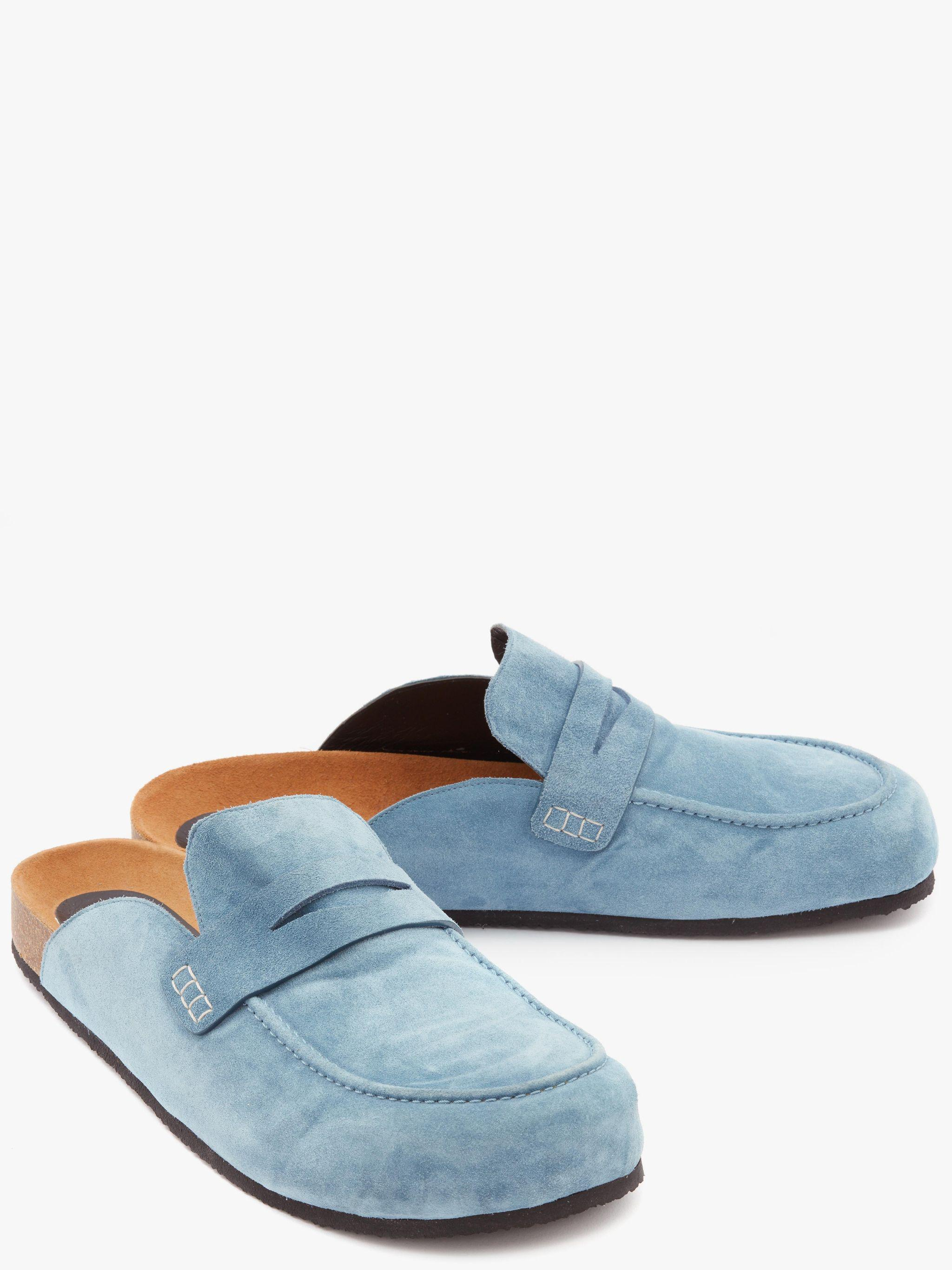 SUEDE LOAFER MULES 1