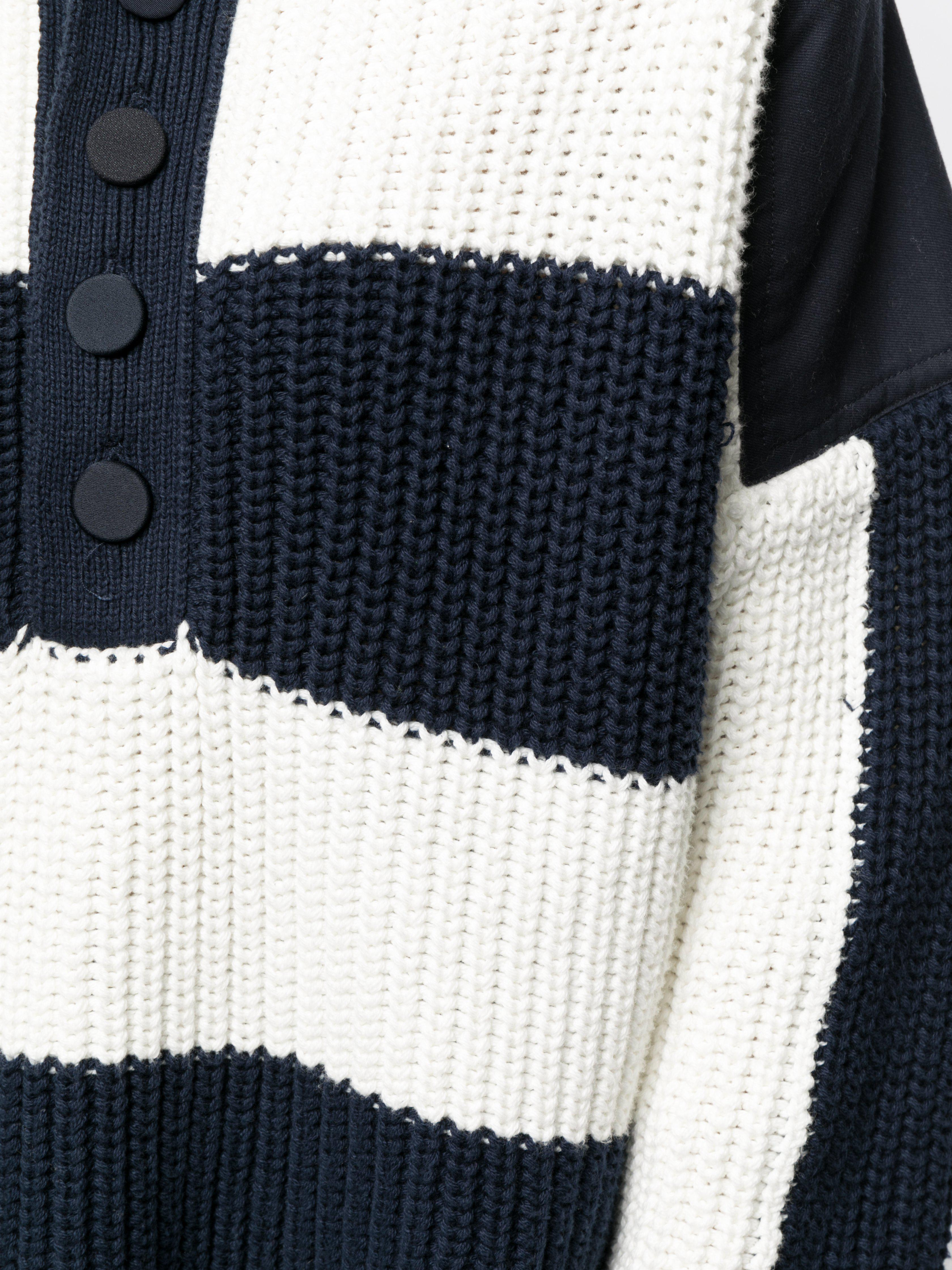 STRIPED HENLEY SWEATER IN COTTON 3