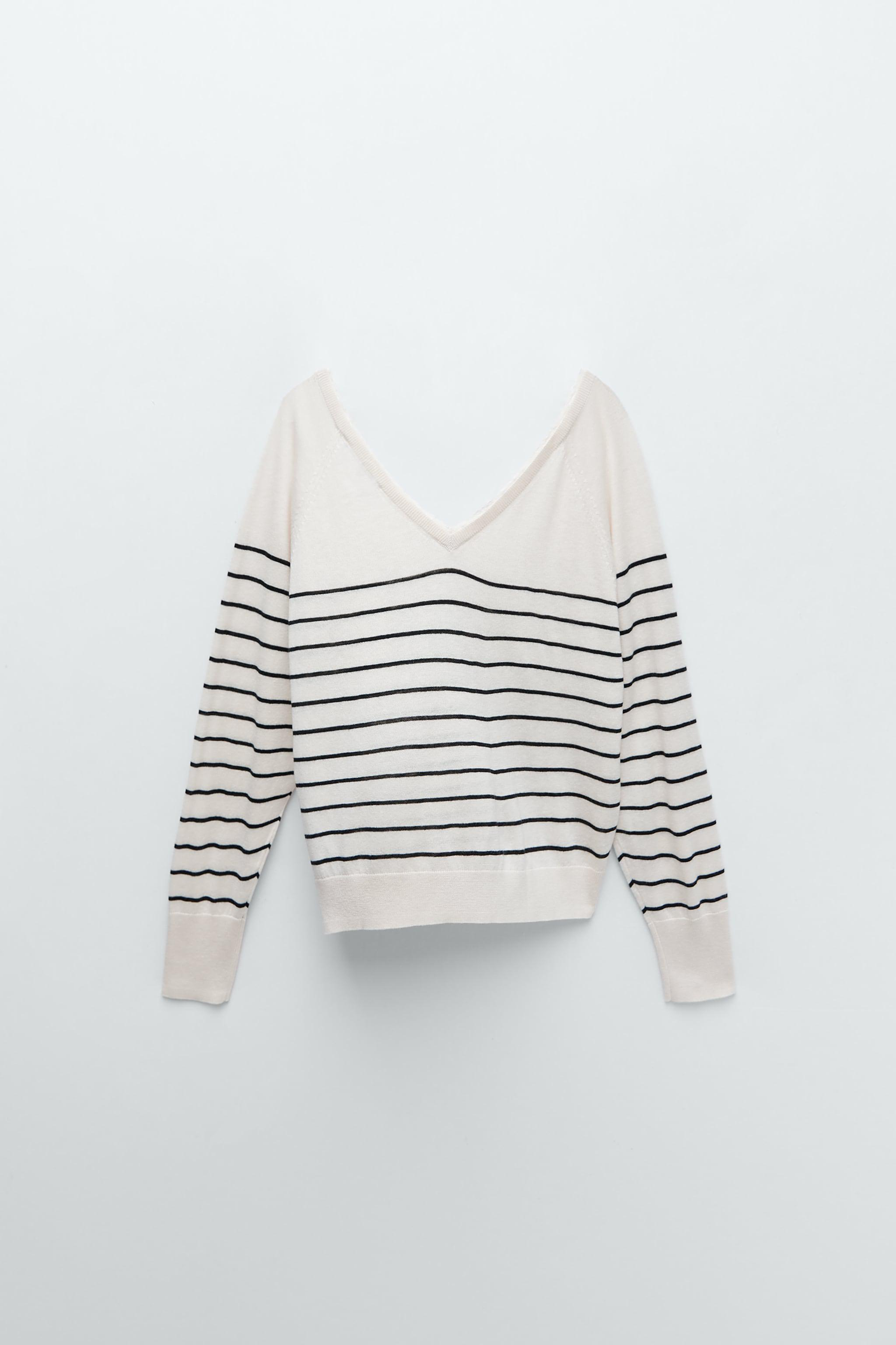 COMBINATION KNIT SWEATER
