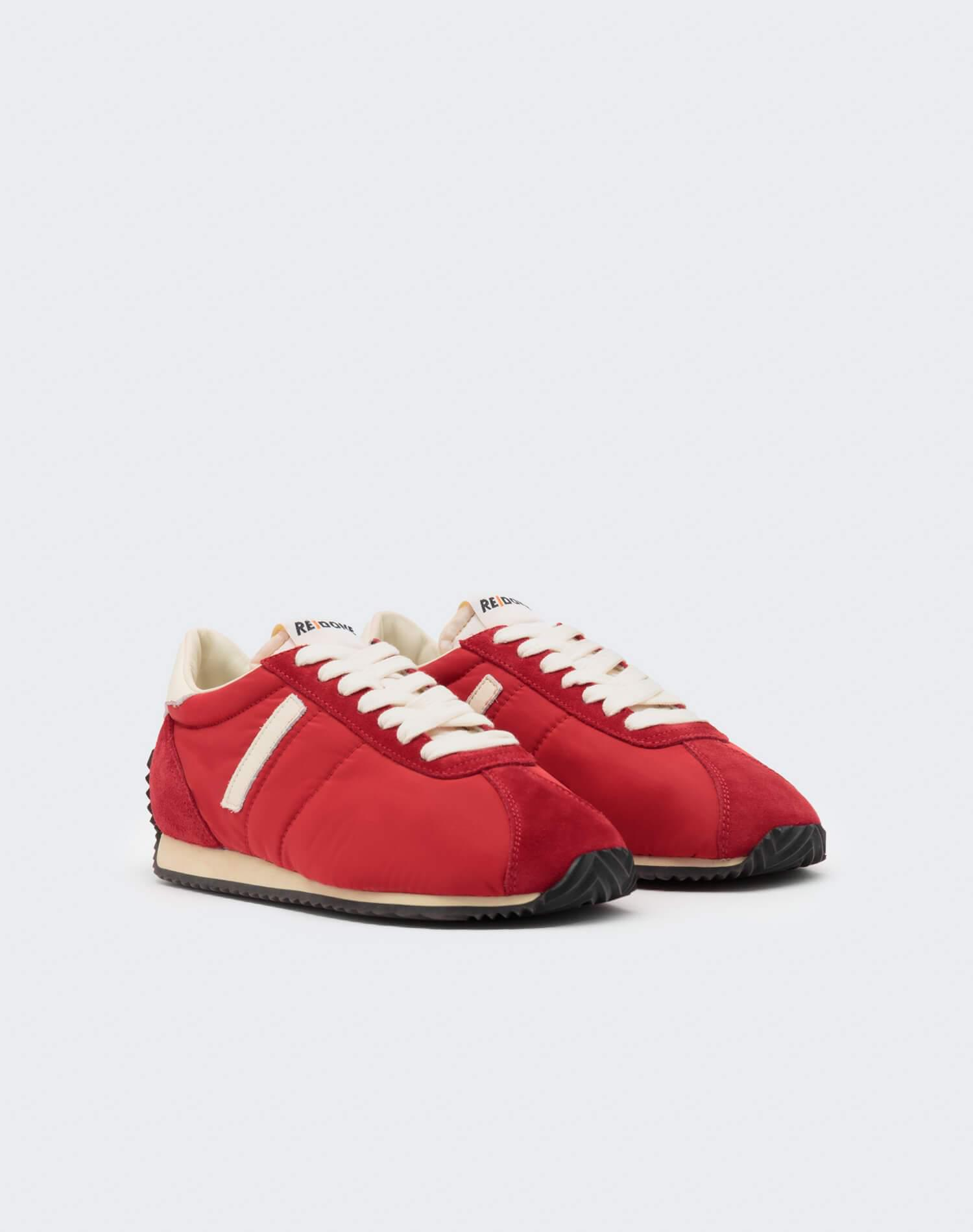 70s Runner Shoe - Red and White 1