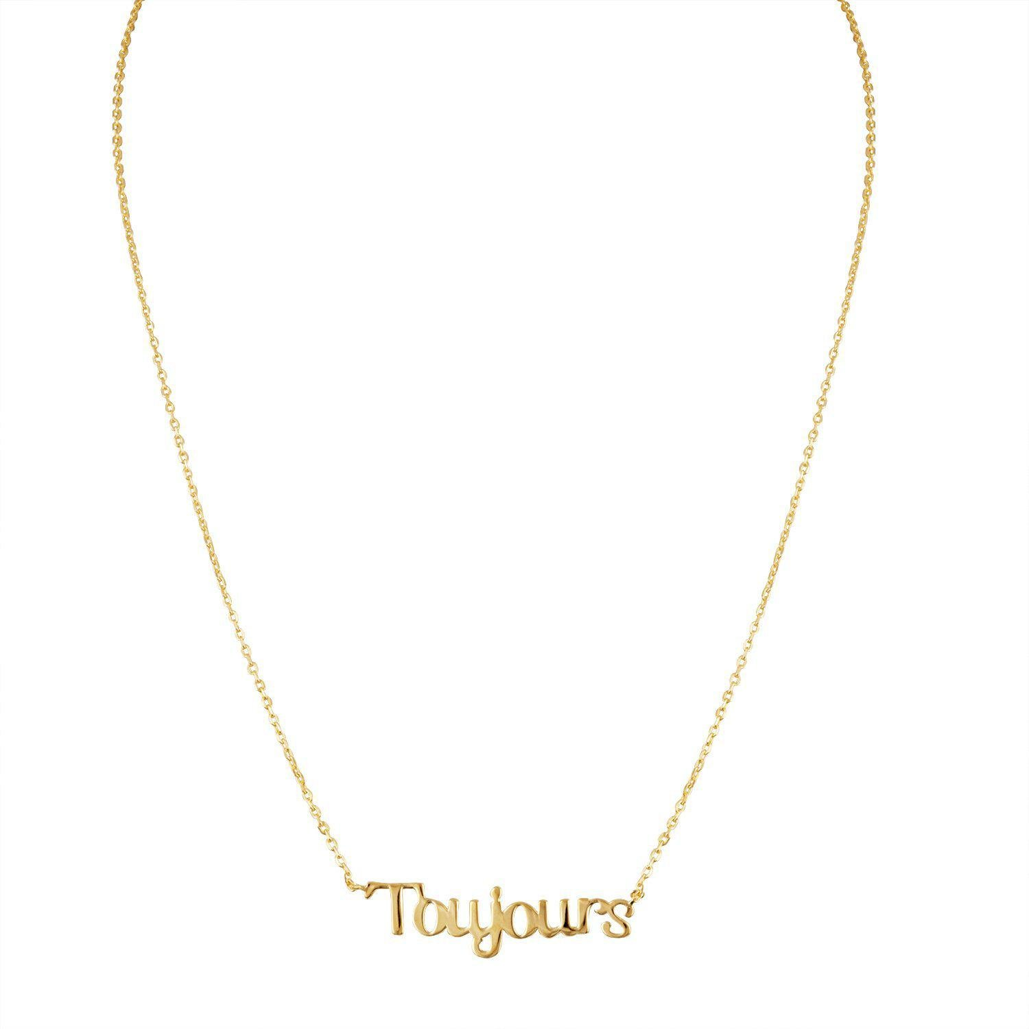 Toujours Necklace in Gold