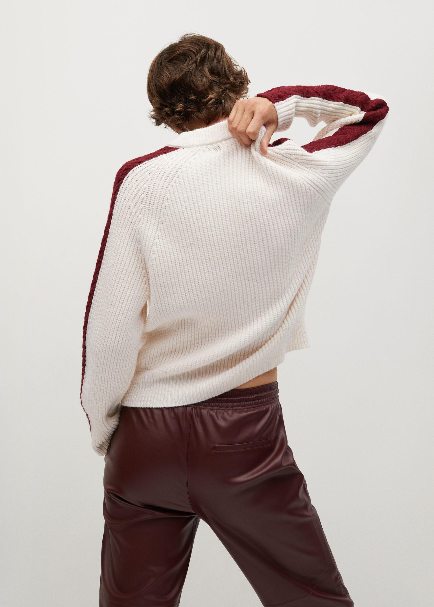 Contrasting knit sweater 2