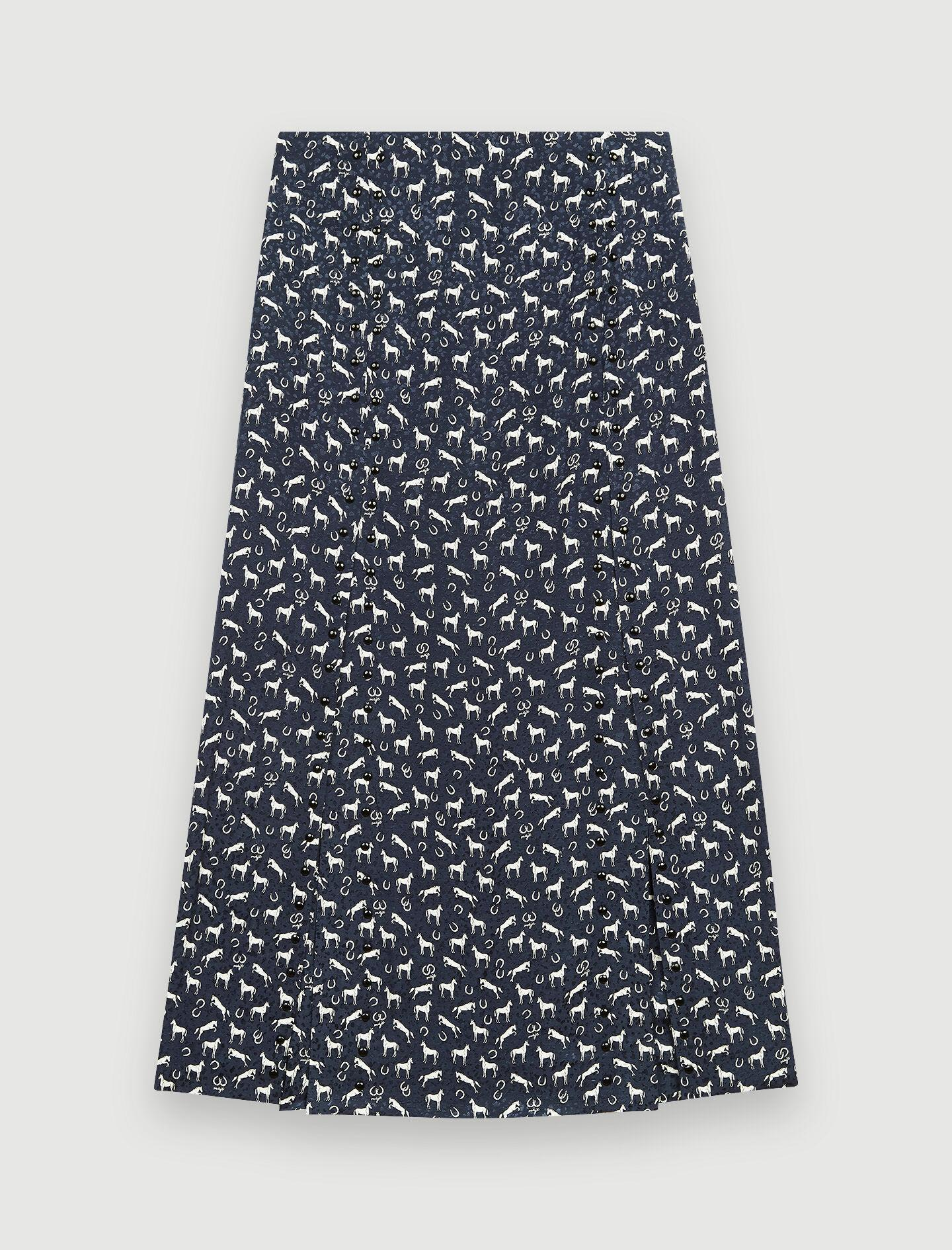 HORSE PRINT JACQUARD SKIRT WITH STUDS 4