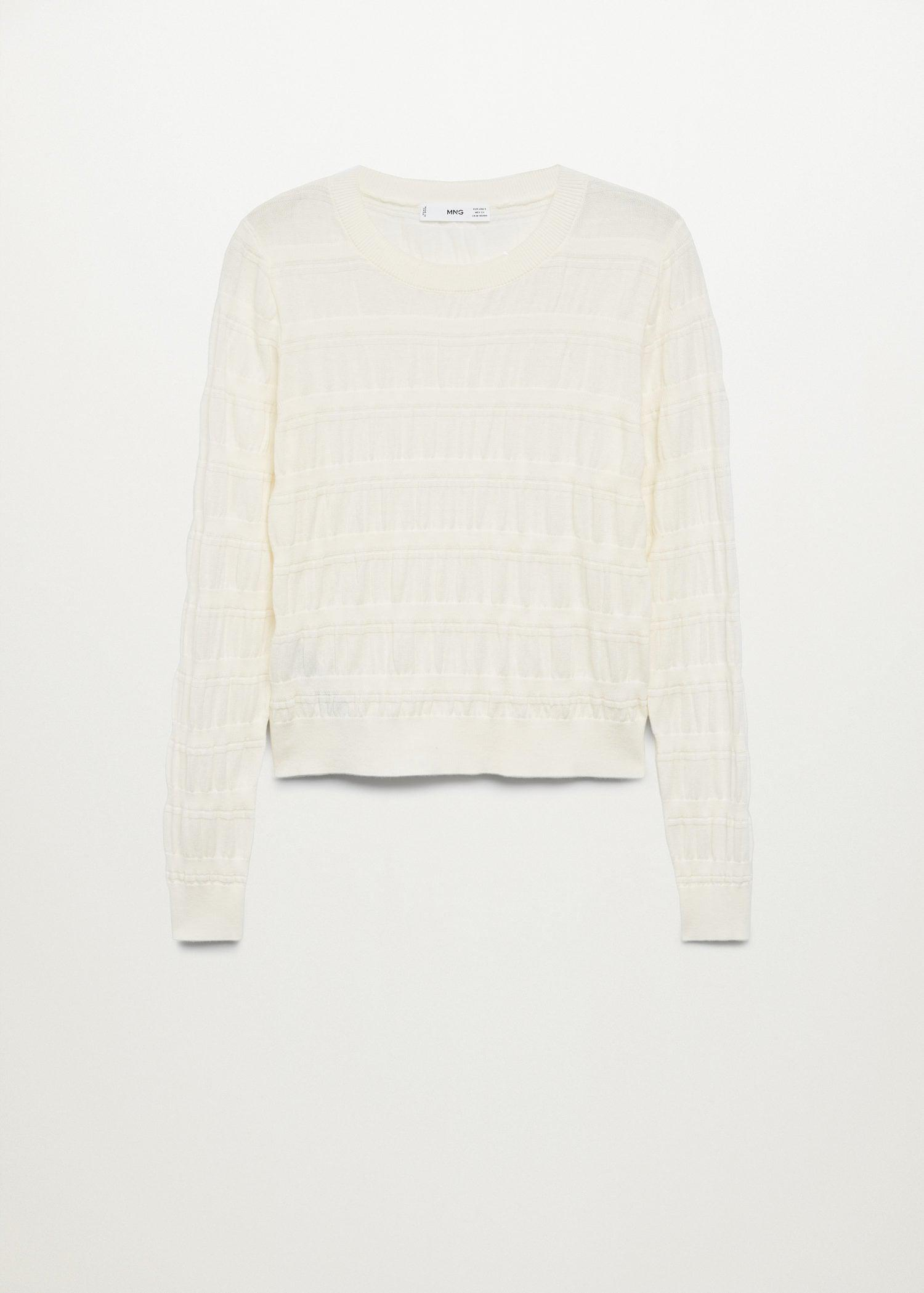 Ruched detail sweater 7