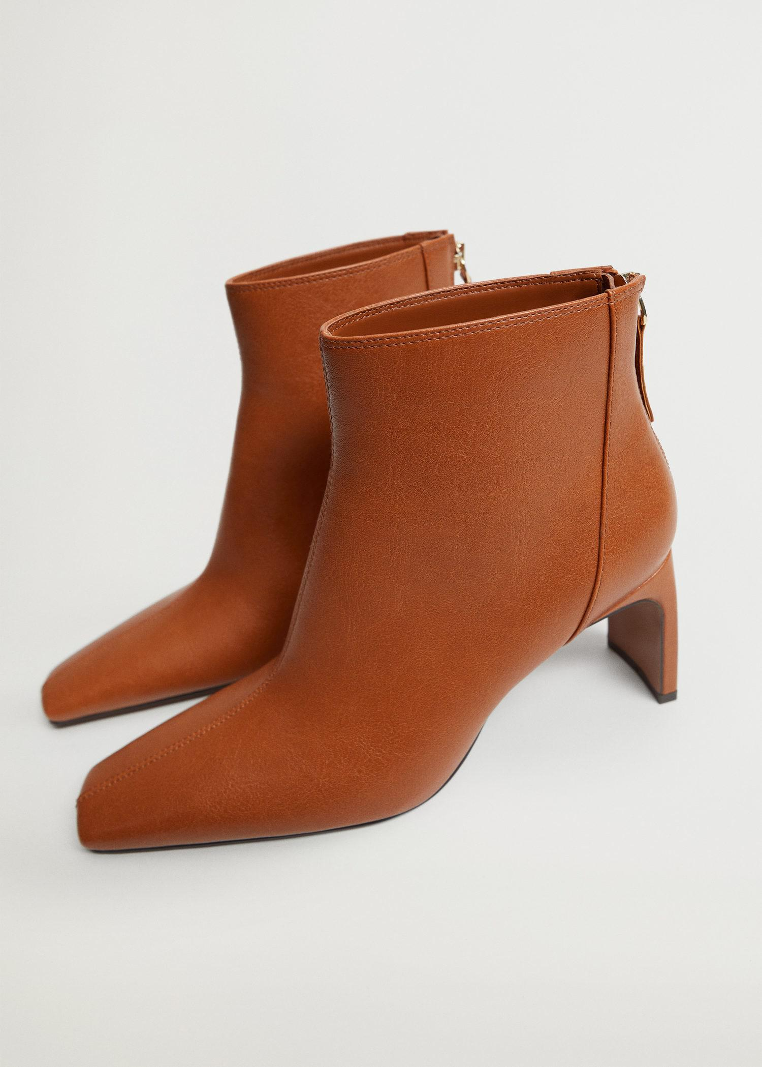 Squared-toe ankle boots 1