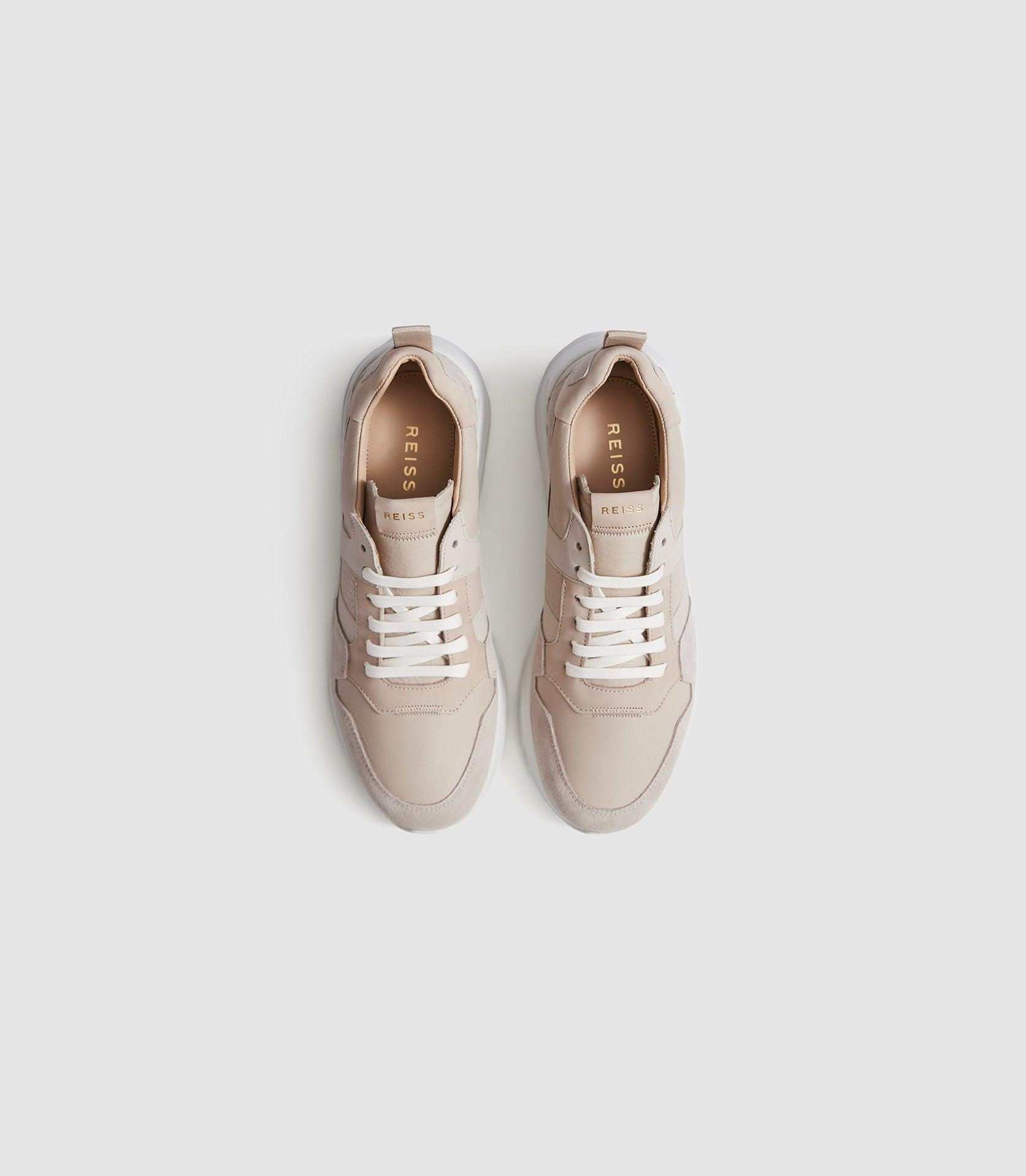 SHELTON - LEATHER TRAINERS 1