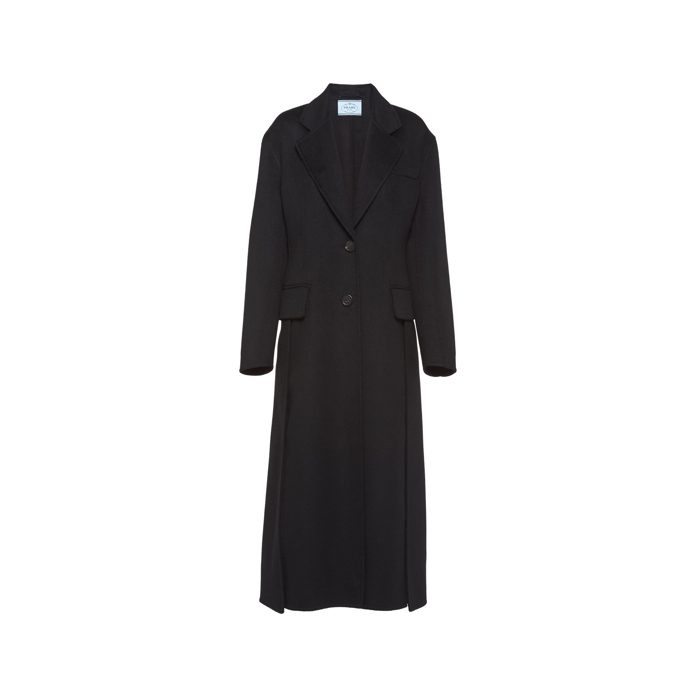 Single-breasted Wool And Cashmere Coat Women Black