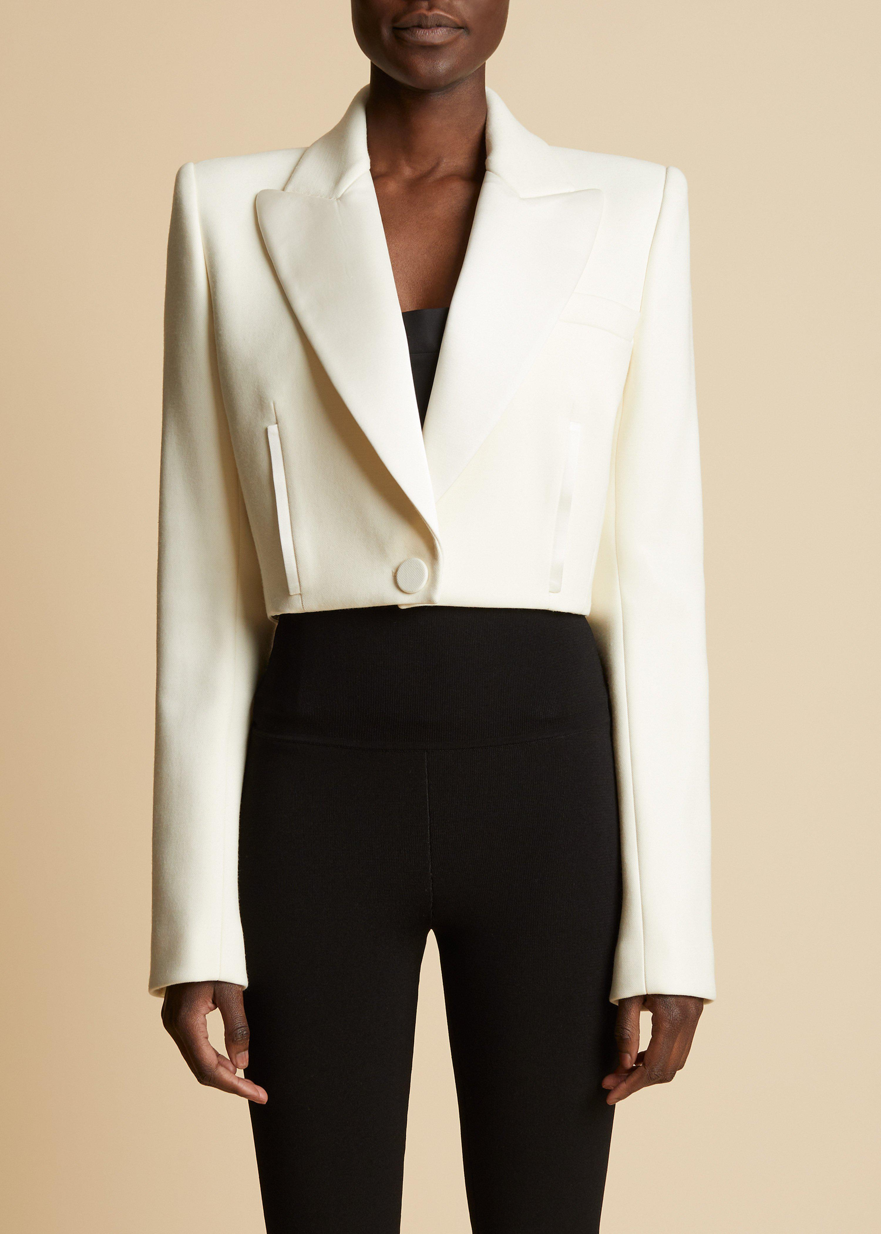 The Lucille Blazer in Ivory