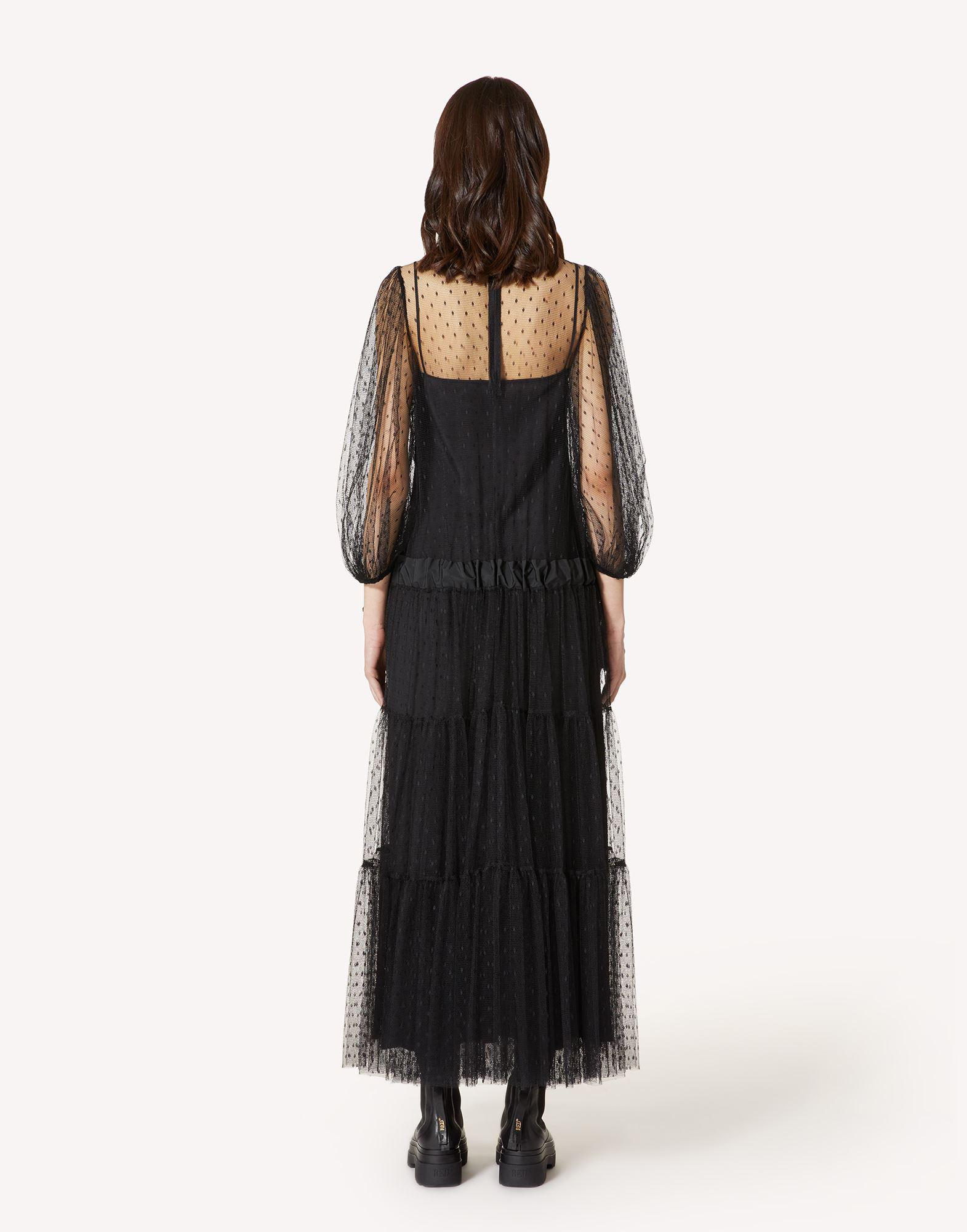 POINT D'ESPRIT TULLE DRESS WITH DRAWSTRING 1