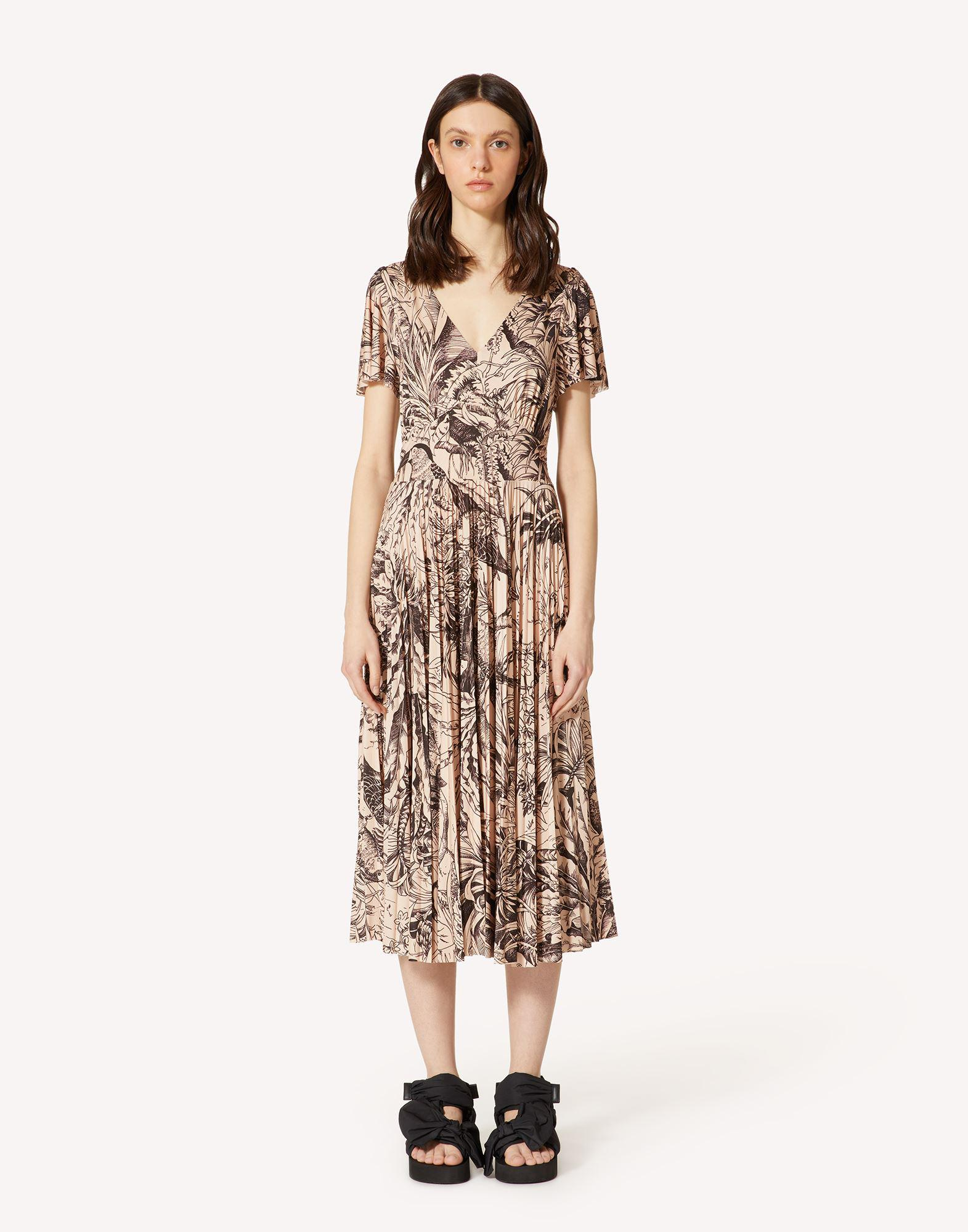 JERSEY DRESS WITH JUNGLE TOILE PRINT