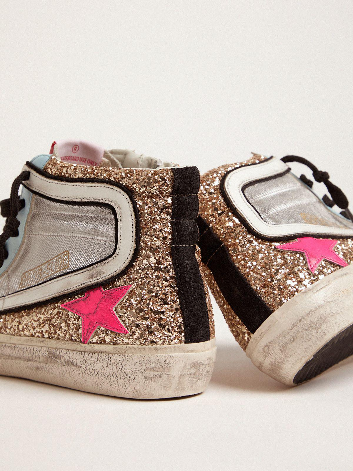 Slide LTD sneakers with glitter and fuchsia star 4