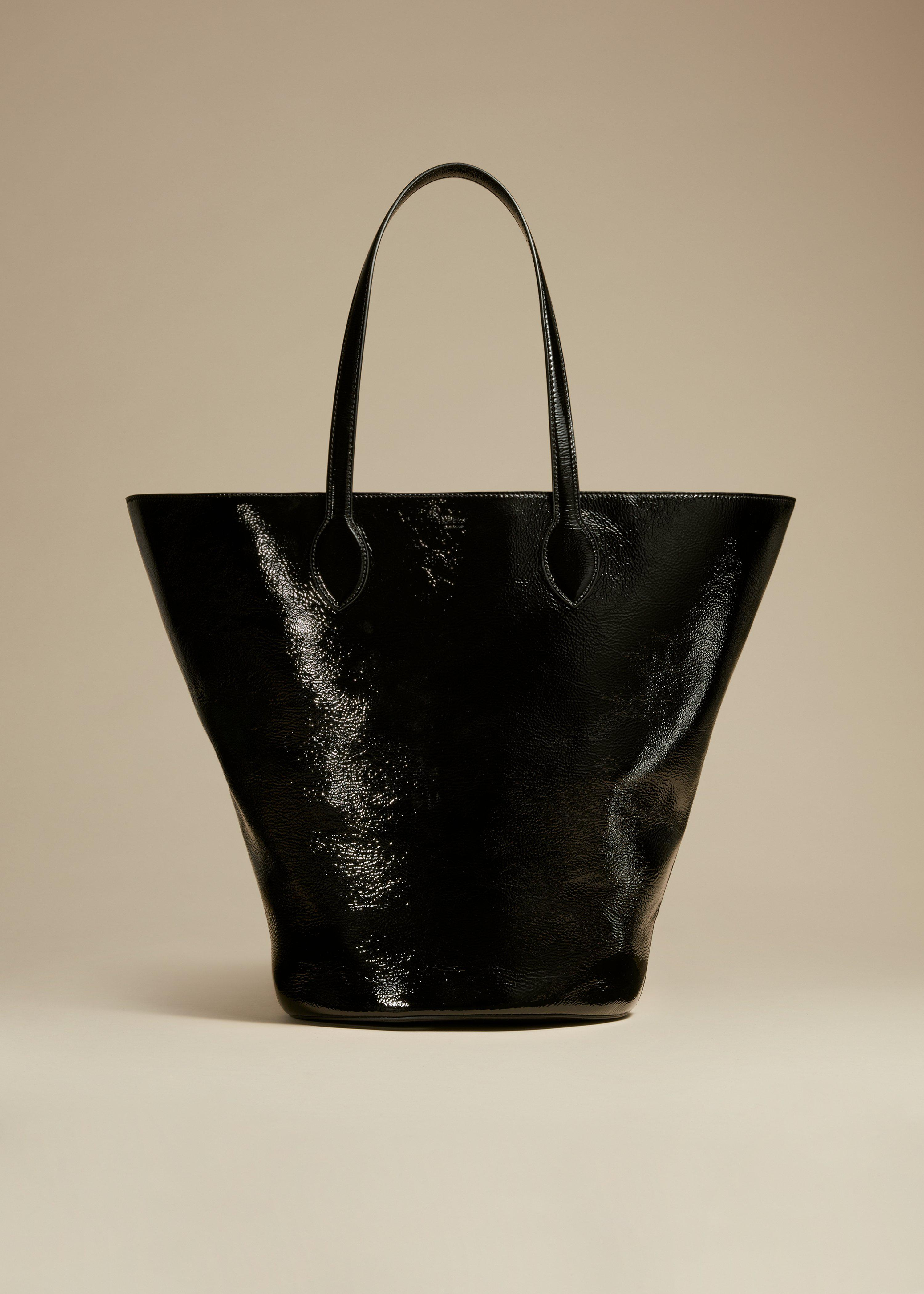 The Medium Osa Tote in Black Patent Leather