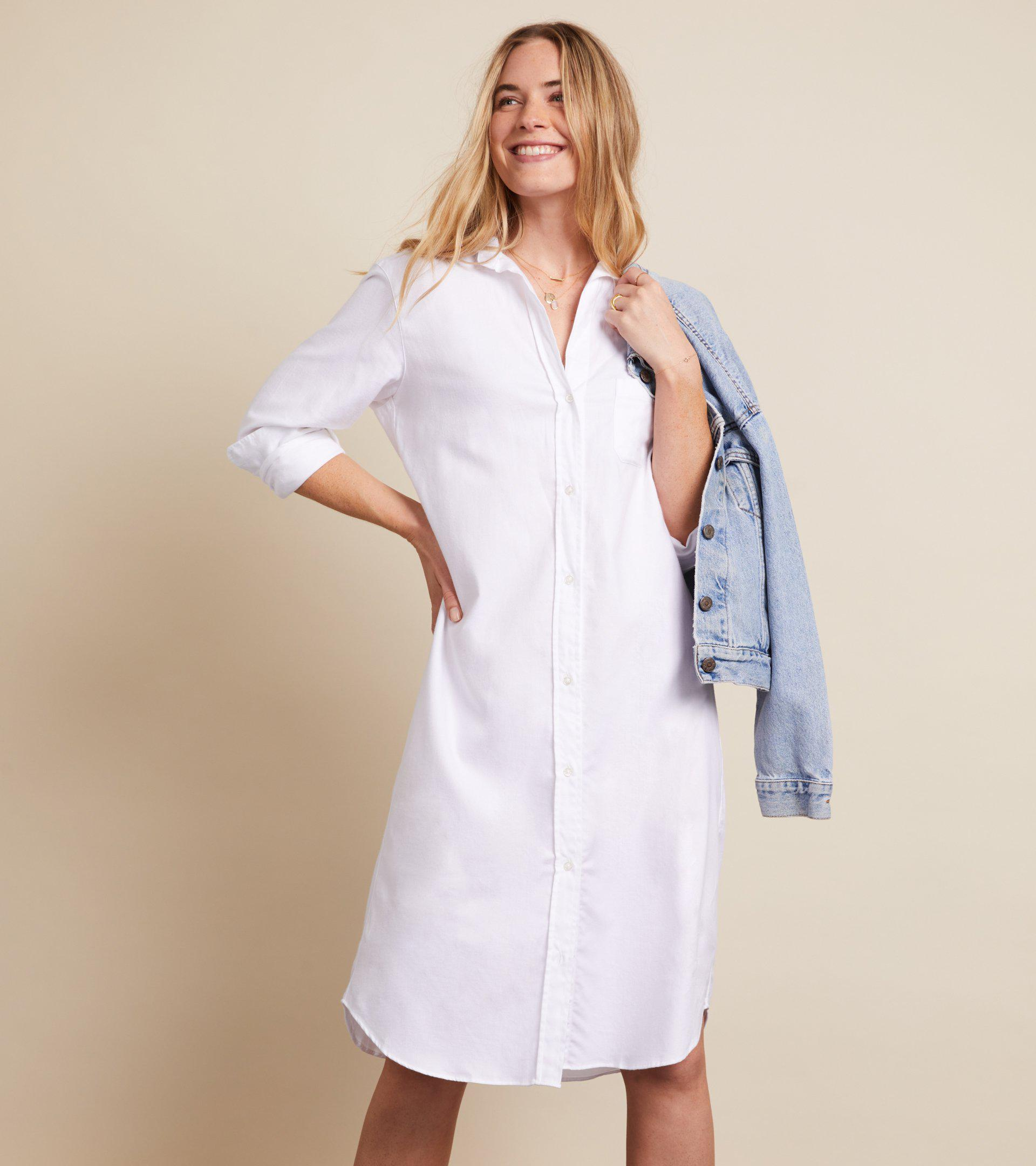 The Hero Midi Dress White, Feathered Flannel