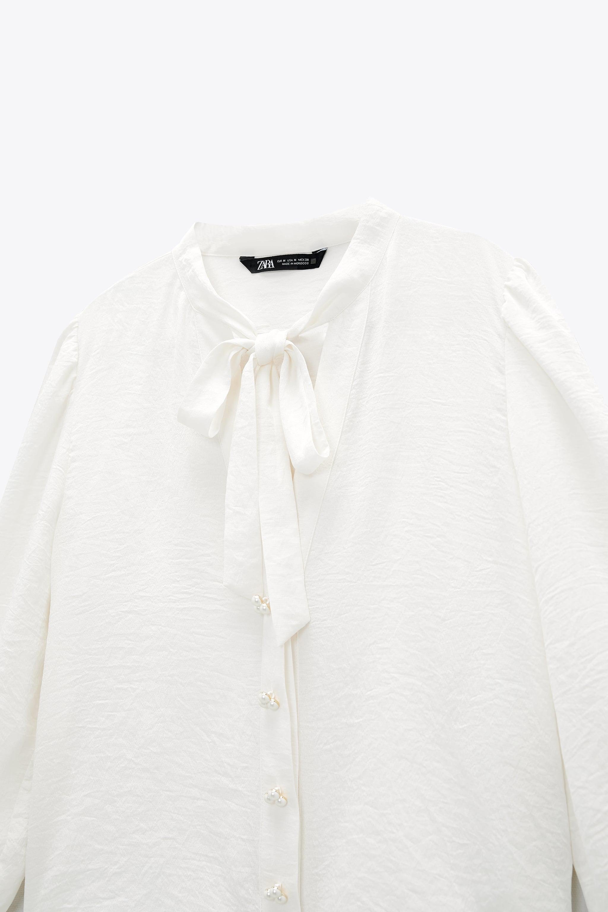 PEARL BUTTON BOW TOP 7