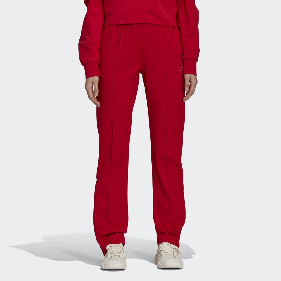 Y-3 Classic Slim Fitted Track Pants Red XS - Womens Training Pants