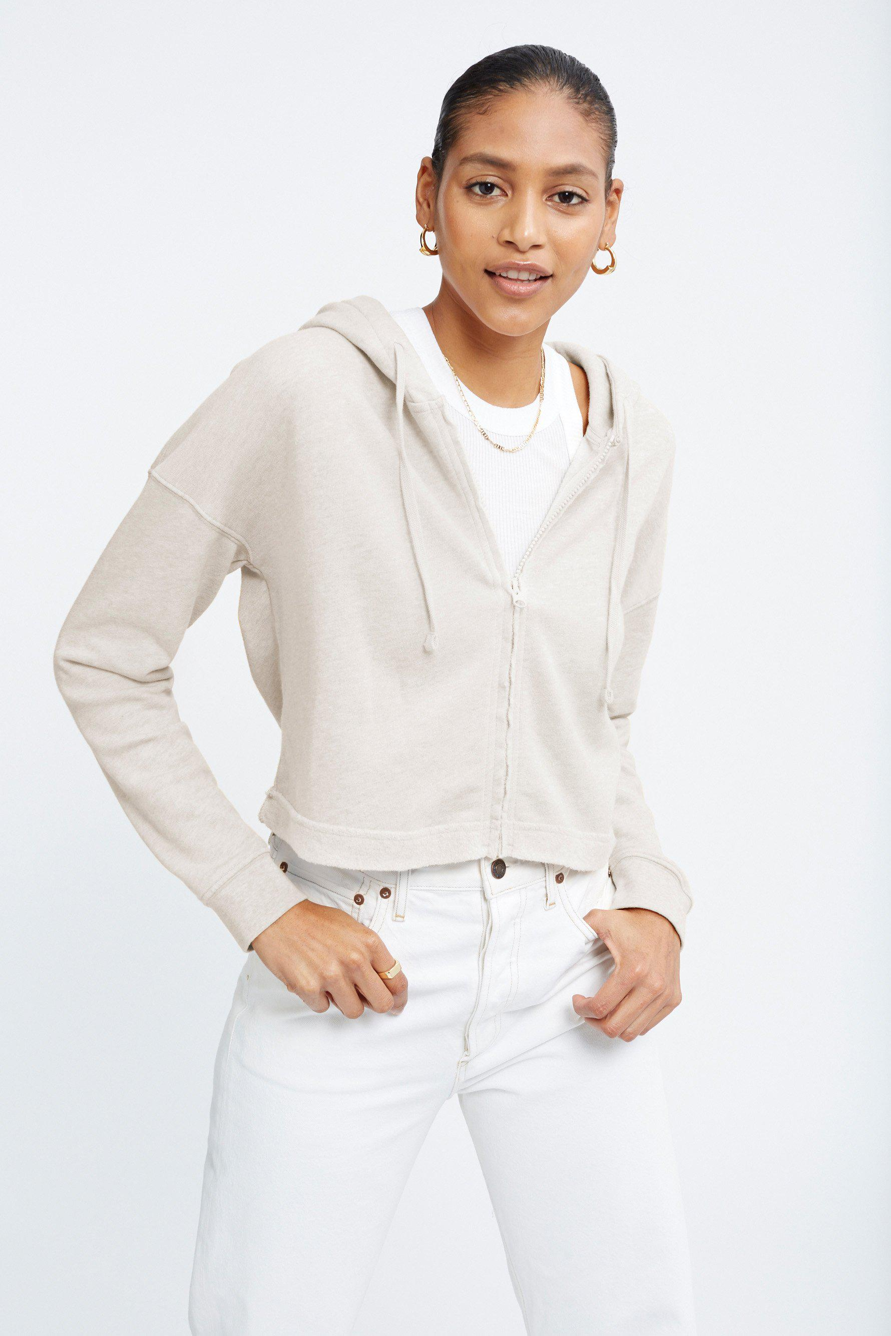 The Ecosoft Cropped Zip Up Hoodie