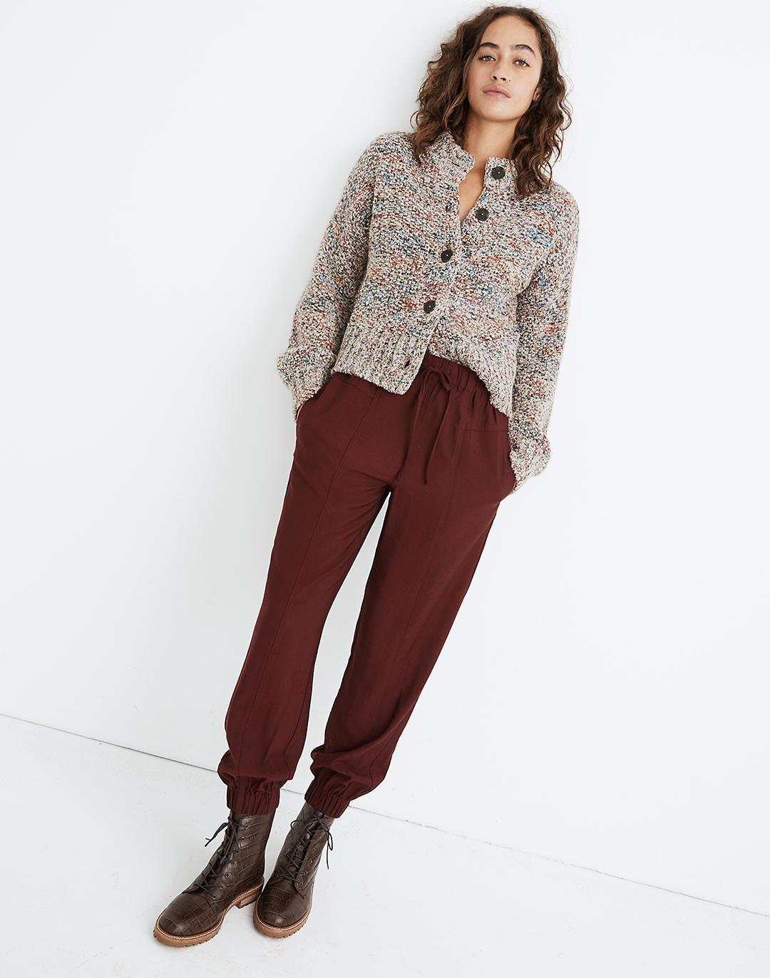 Drapey Seamed Track Trousers