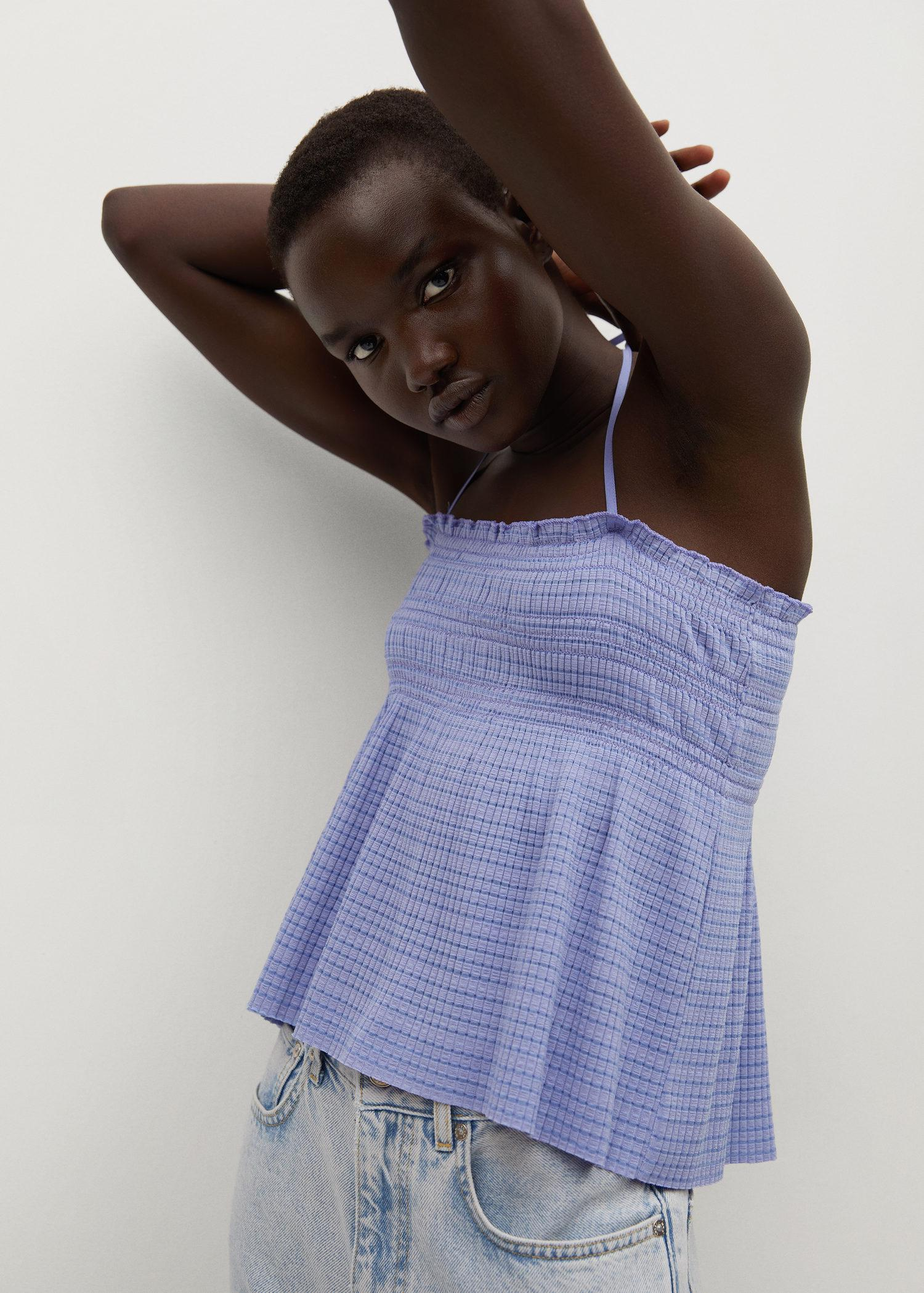 Pleated strap top 3