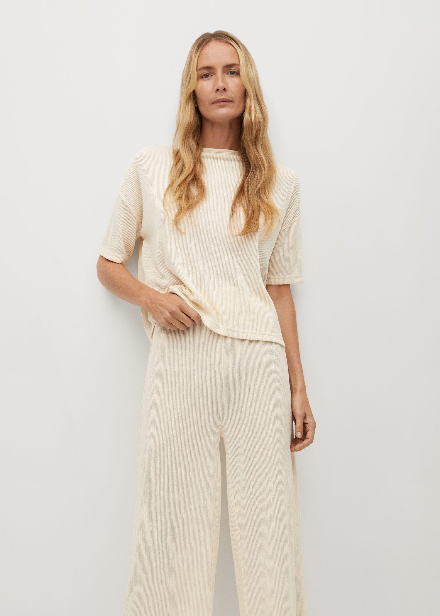 Pleated culotte trousers 3