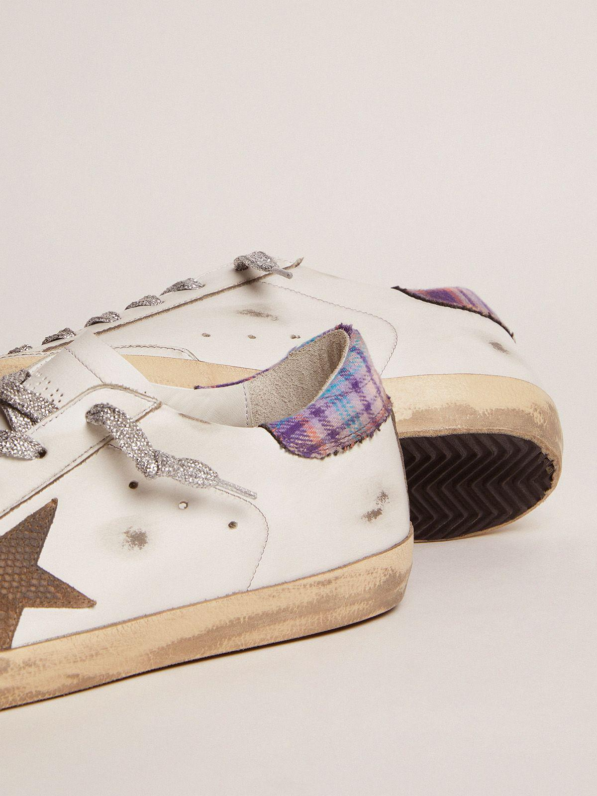 Super-Star sneakers with colored jacquard heel tab and snake-print suede star 2