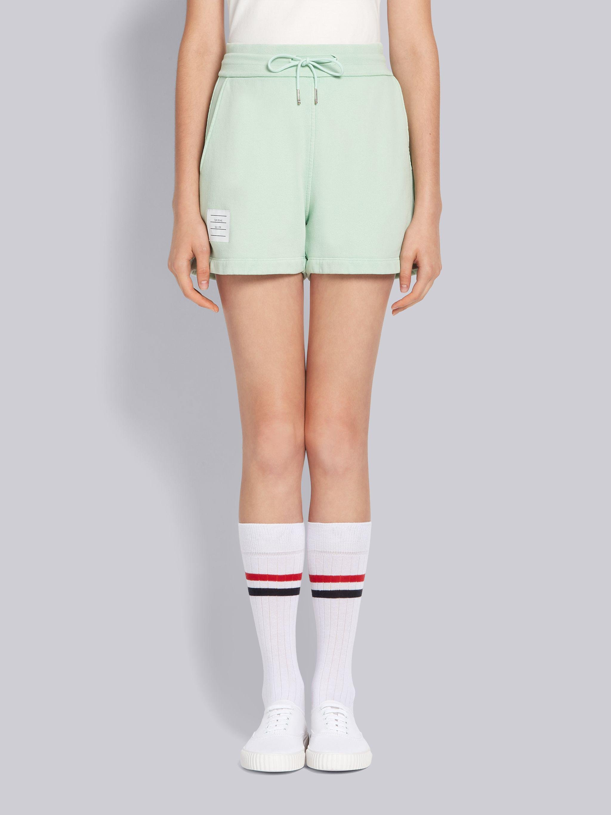 Green Classic Cotton Loopback Garment Dyed Shorts