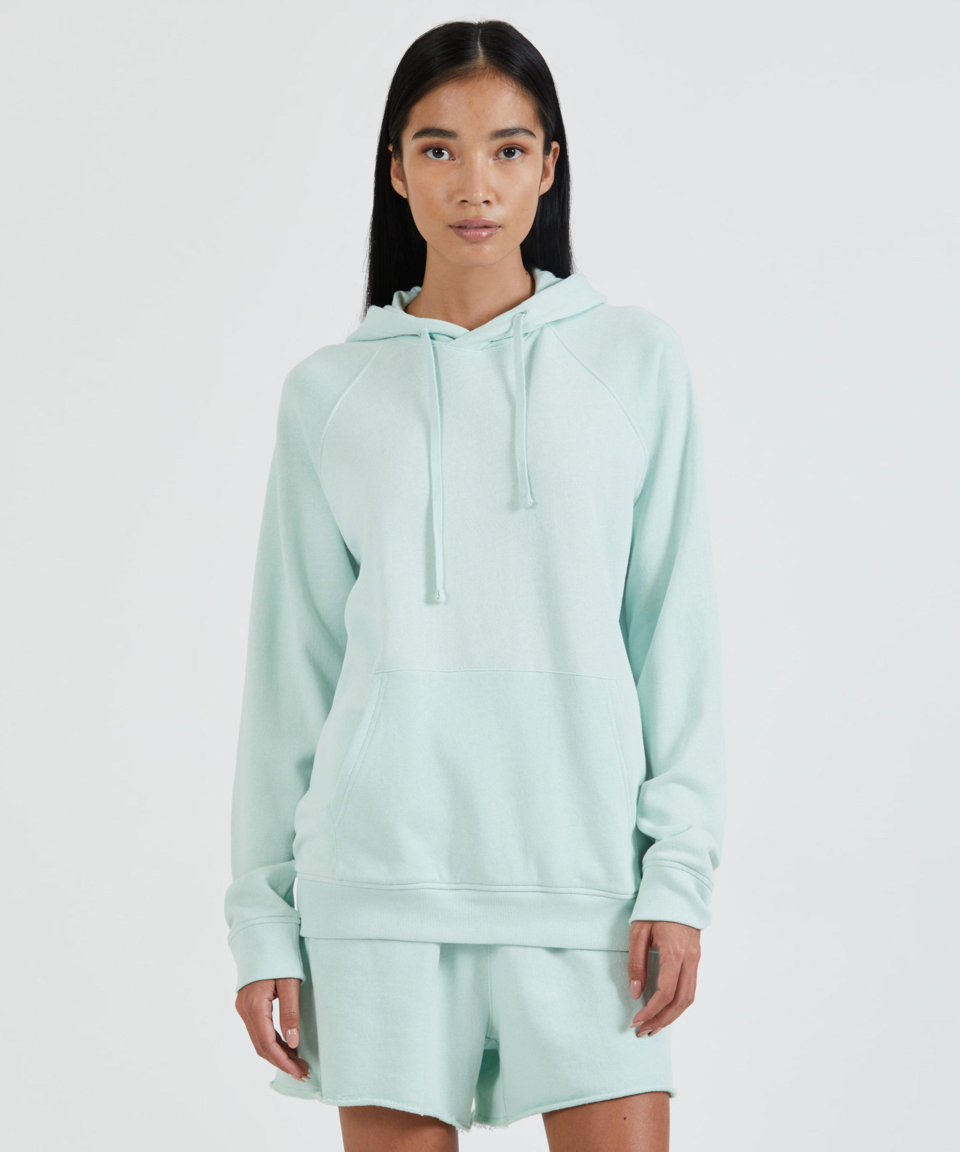 French Terry Pull-Over Hoodie - Mint