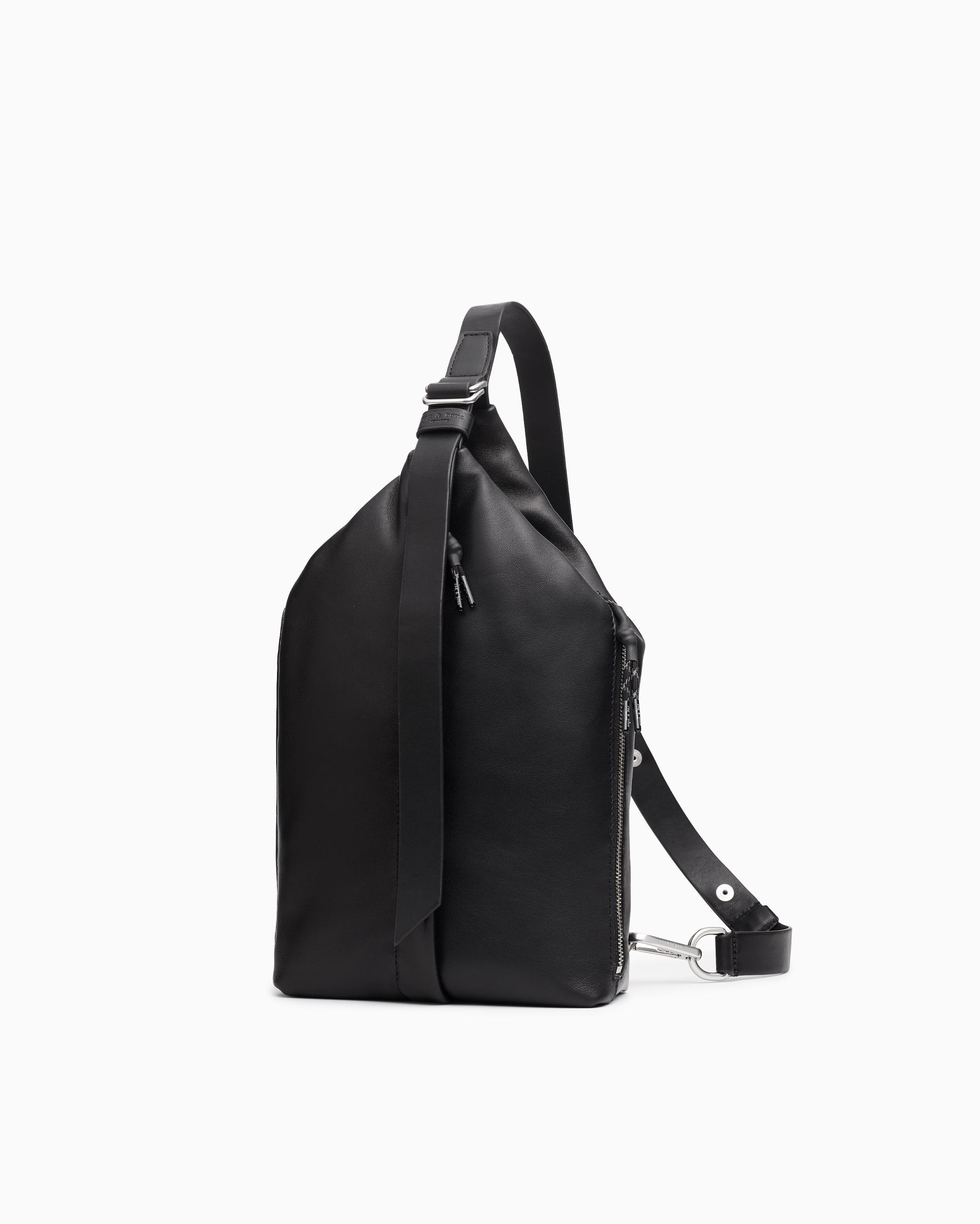 Hayden sling - leather and recycled materials