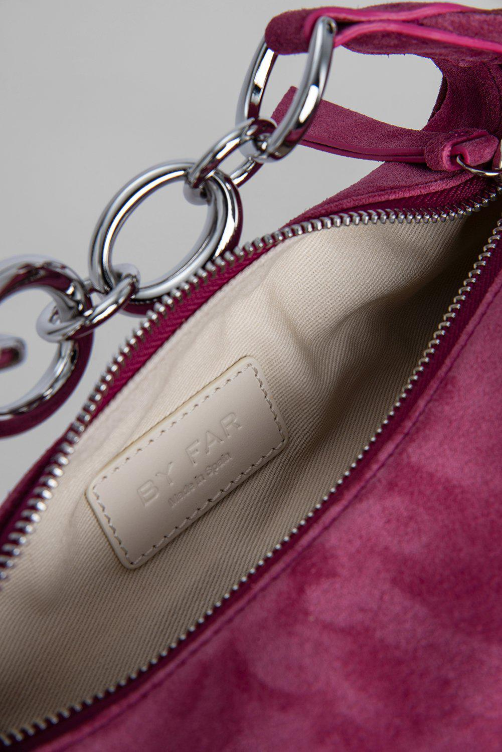 Bougie Fuchsia and Dark Brown Suede Leather 5