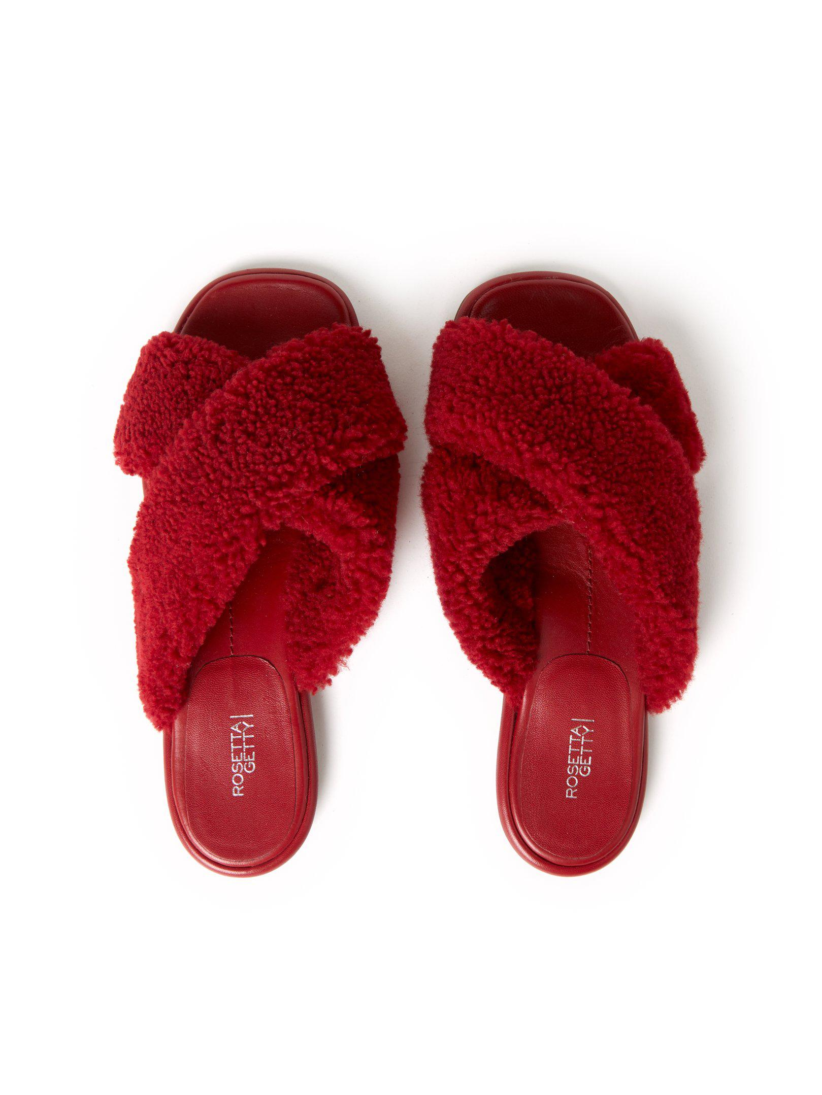 Flat Crossover Sandals Rouge 1