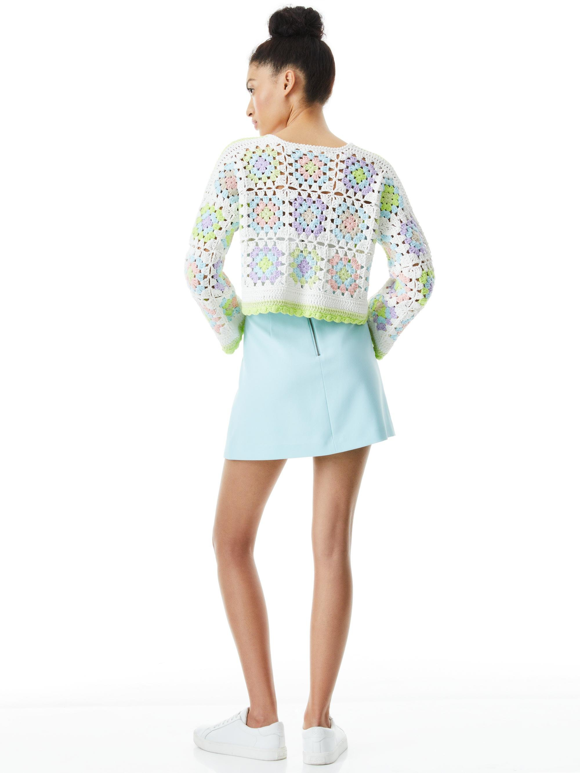 ANDERSON CROPPED CROCHETED CARDIGAN 1
