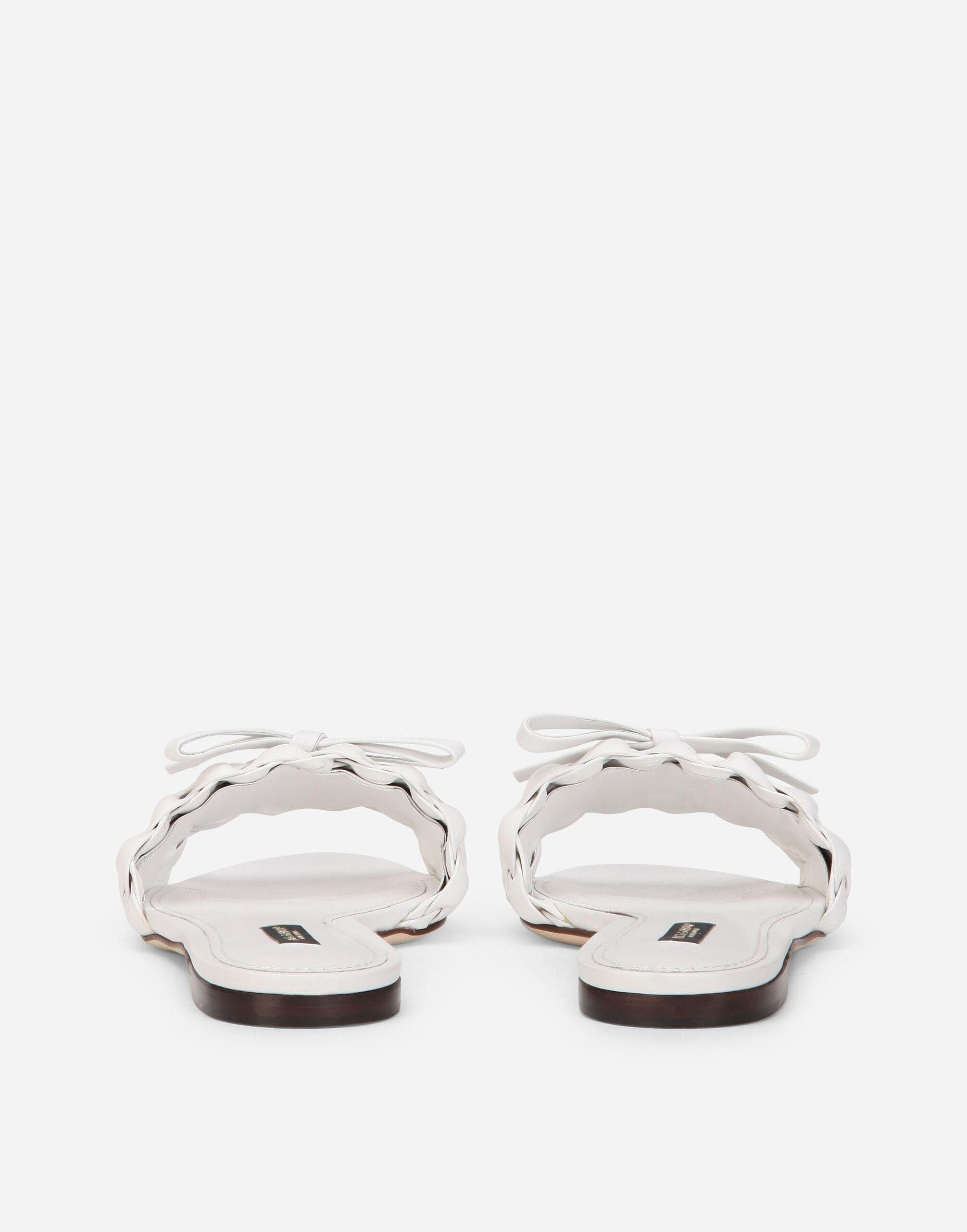 Woven nappa leather sliders 2