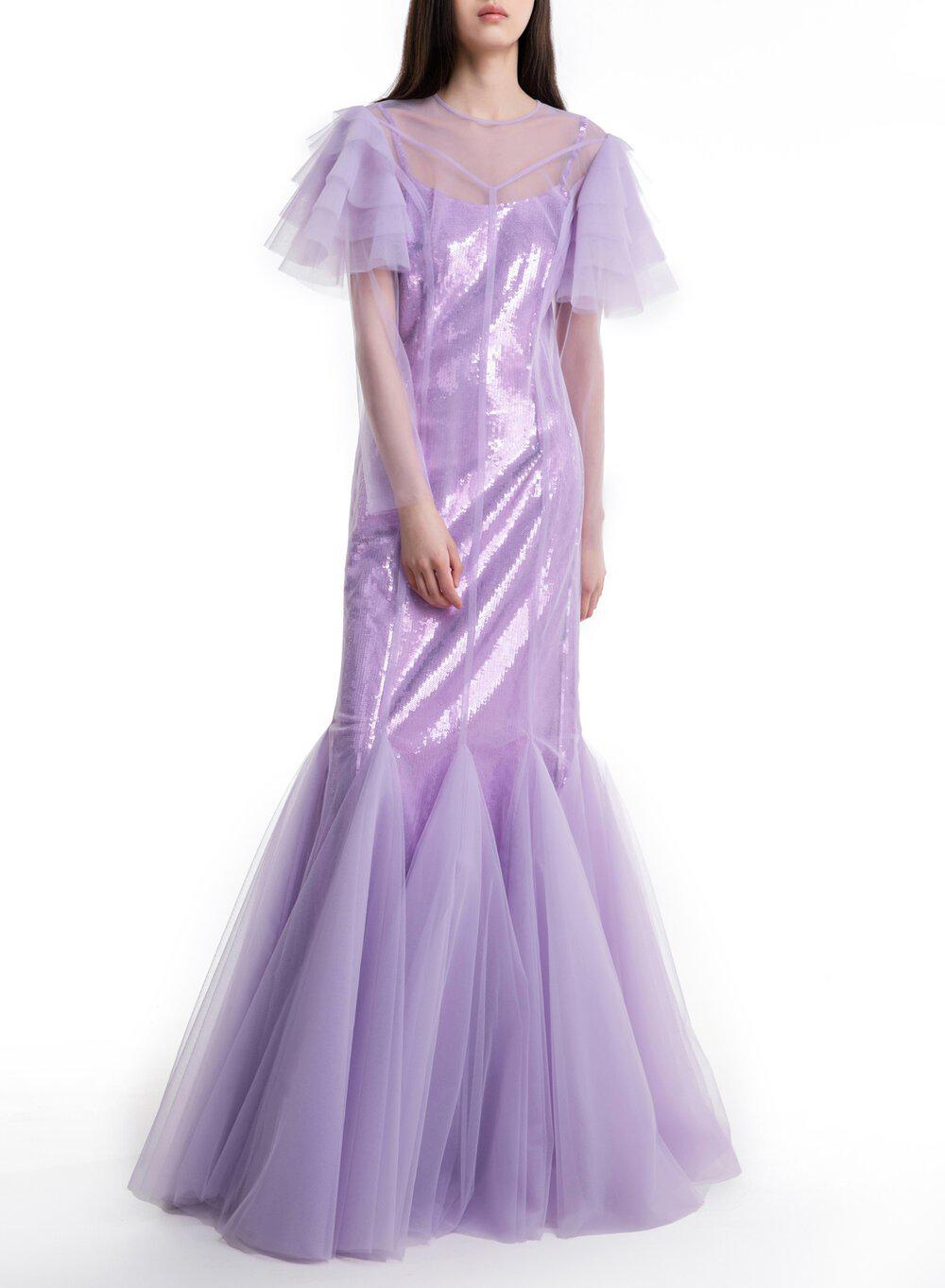 AURORA GOWN LILAC TULLE 1