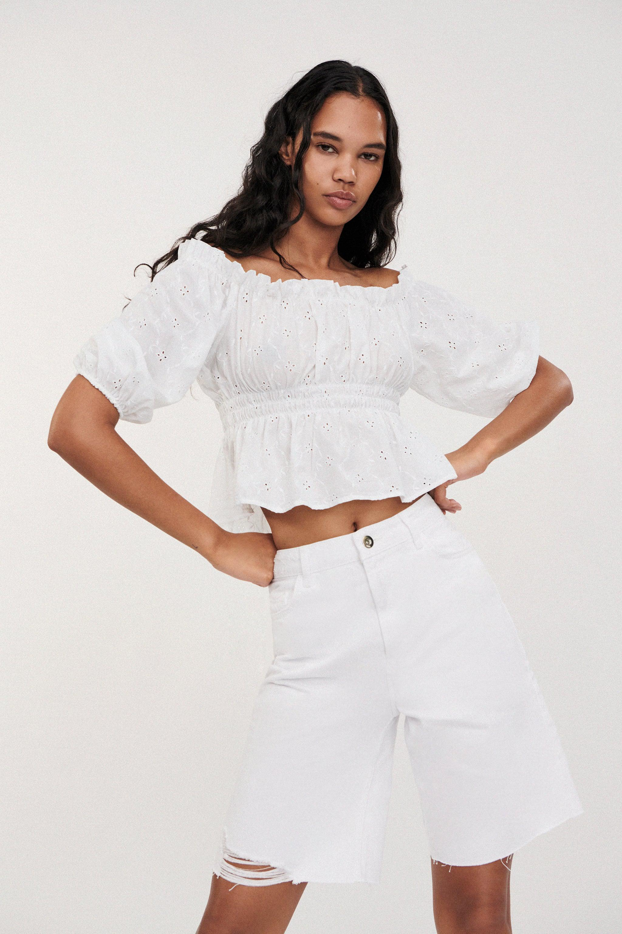 OPENWORK EMBROIDERED TOP 1