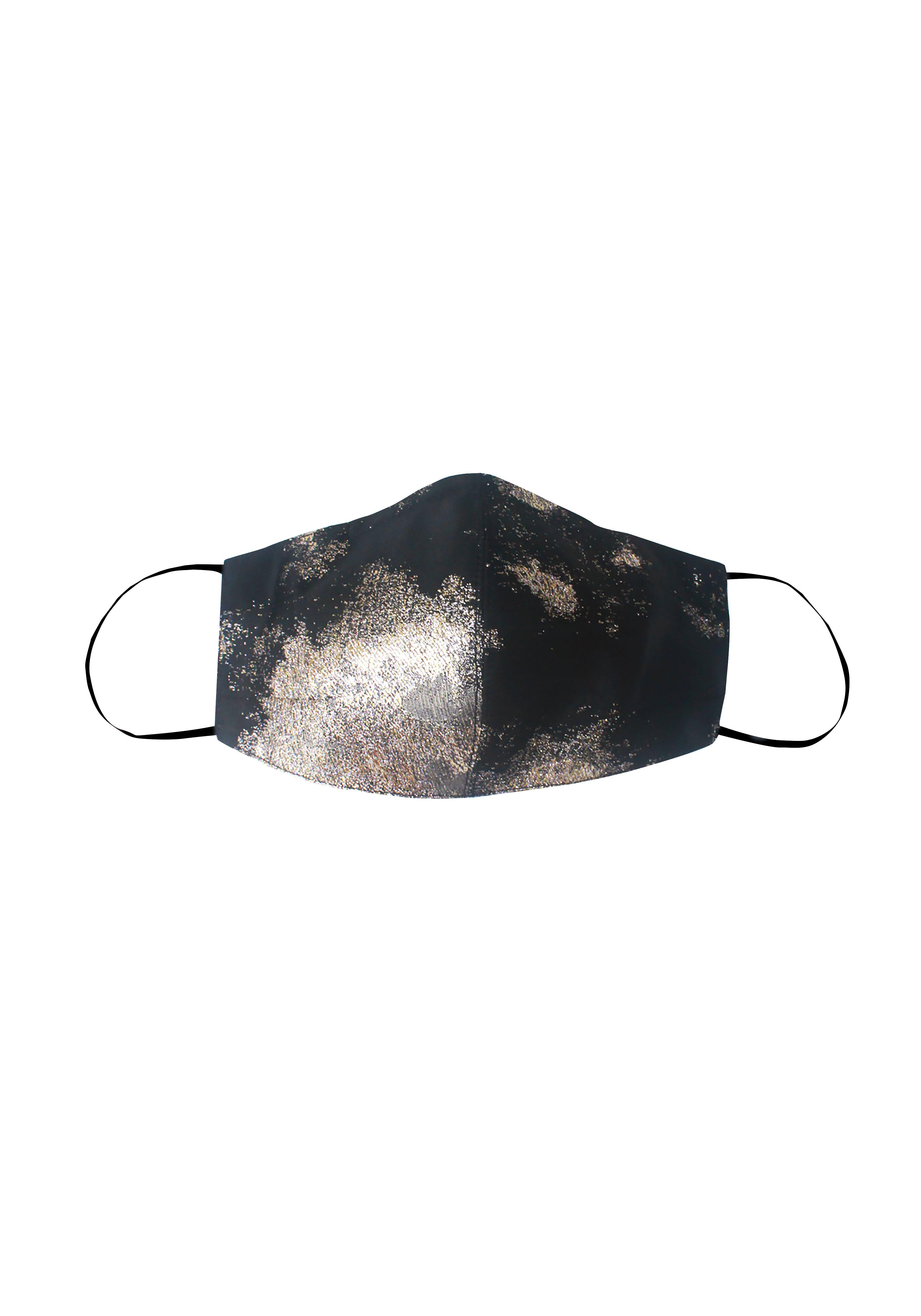 Black and Silver Mask with Silk Lining