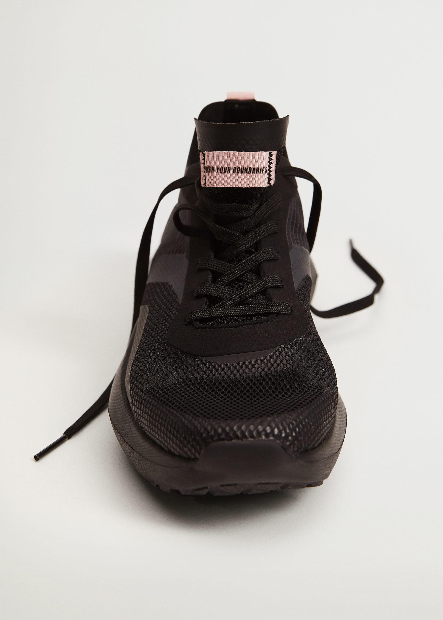 Shoes with transparent panels 4