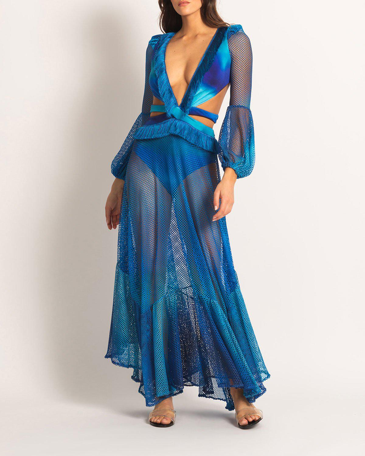Ombre Netted Beach Dress