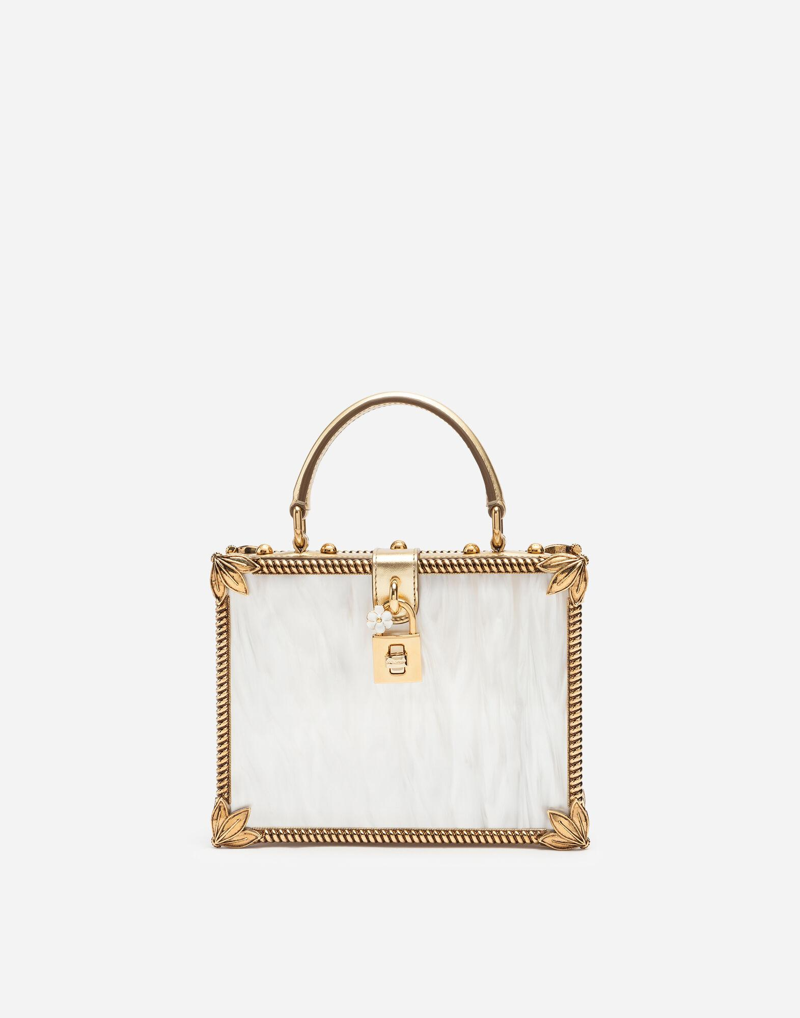 Mother-of-pearl Dolce Box bag