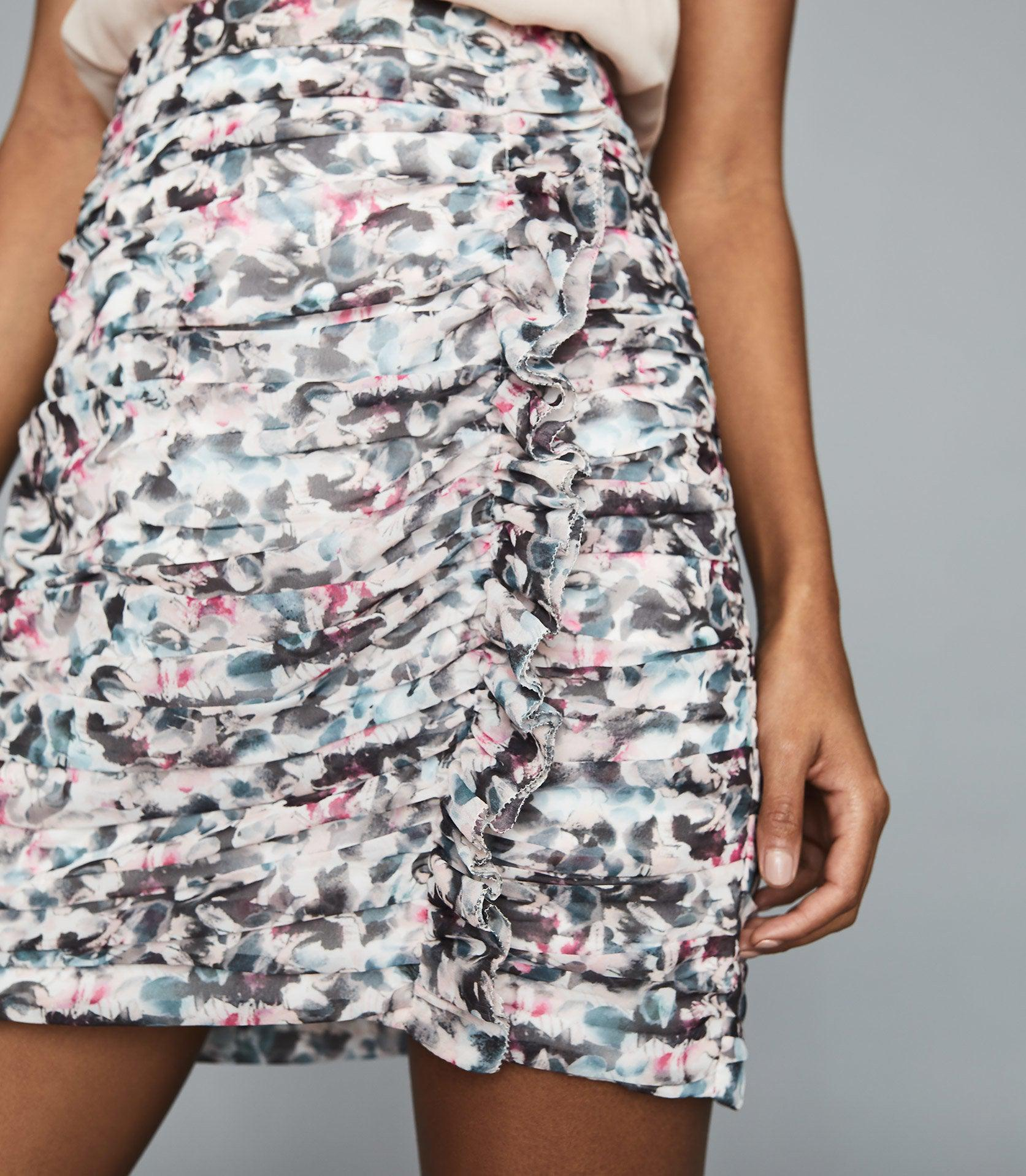 LUCIELLE - FLORAL PRINT RUCHED MINI SKIRT 2