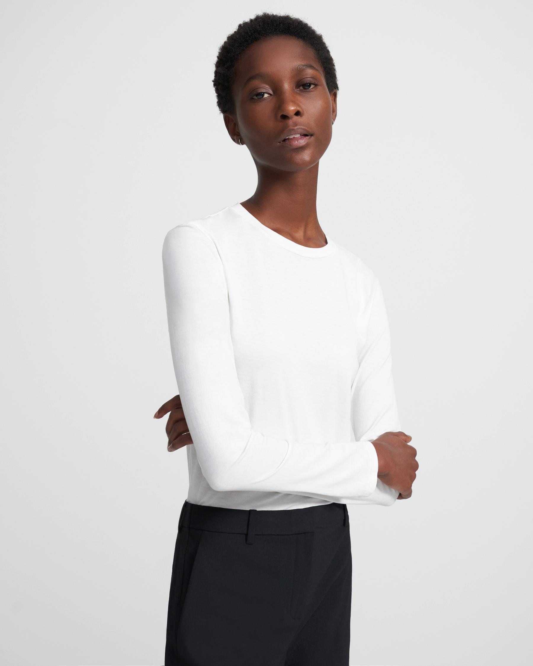 Long-Sleeve Tiny Tee in Cotton 2