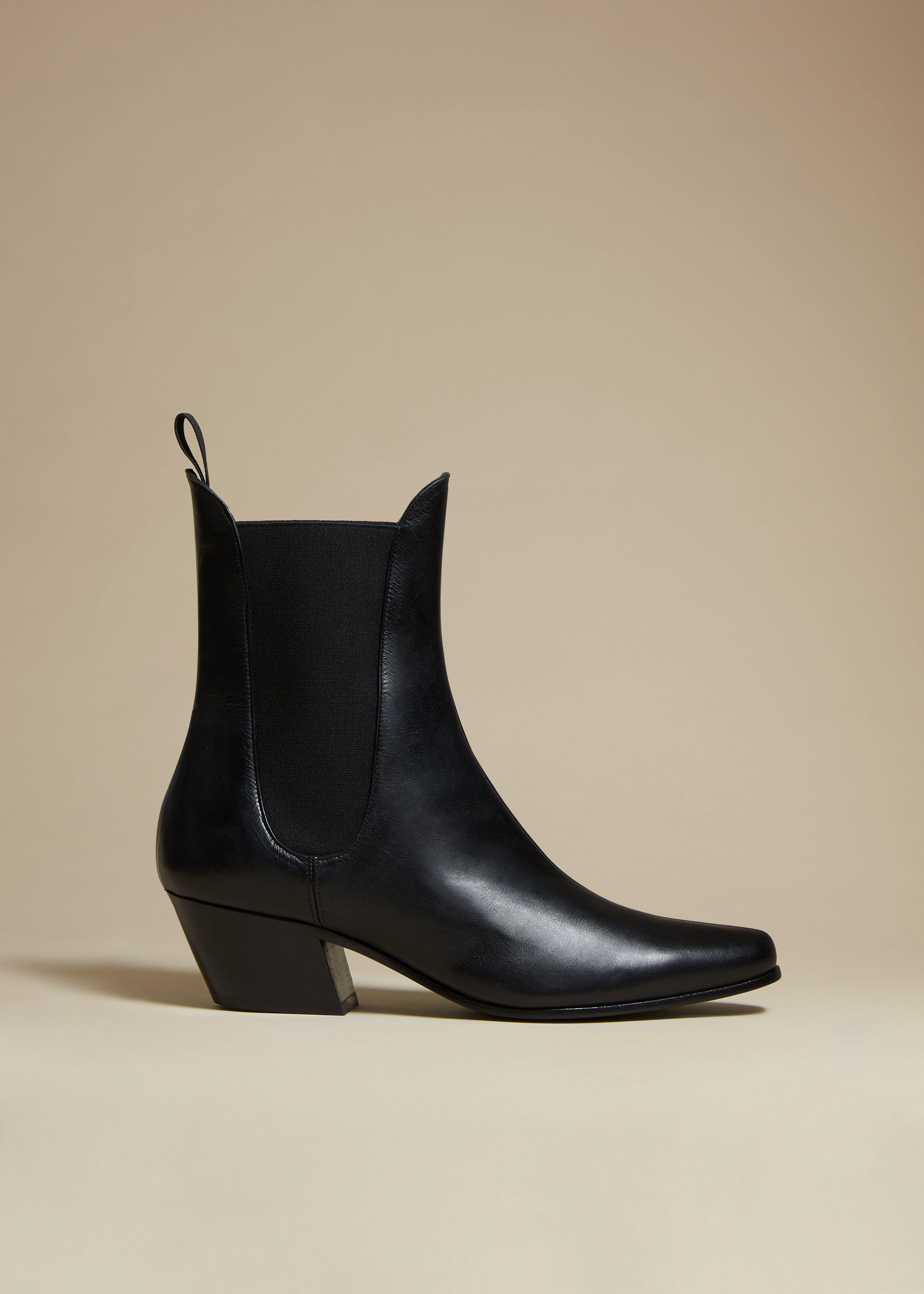 The Saratoga Boot in Black Leather