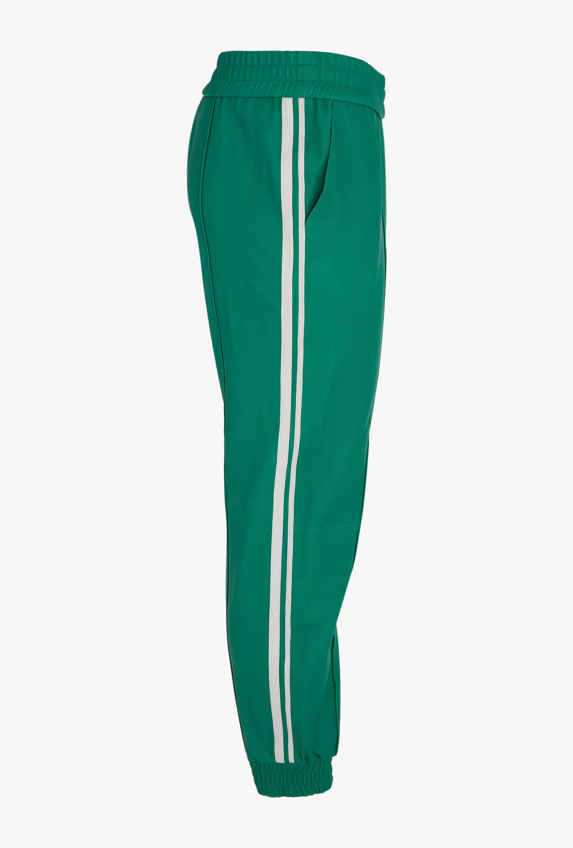 Kelly Green Athletic Slim Fit Leather Jogger